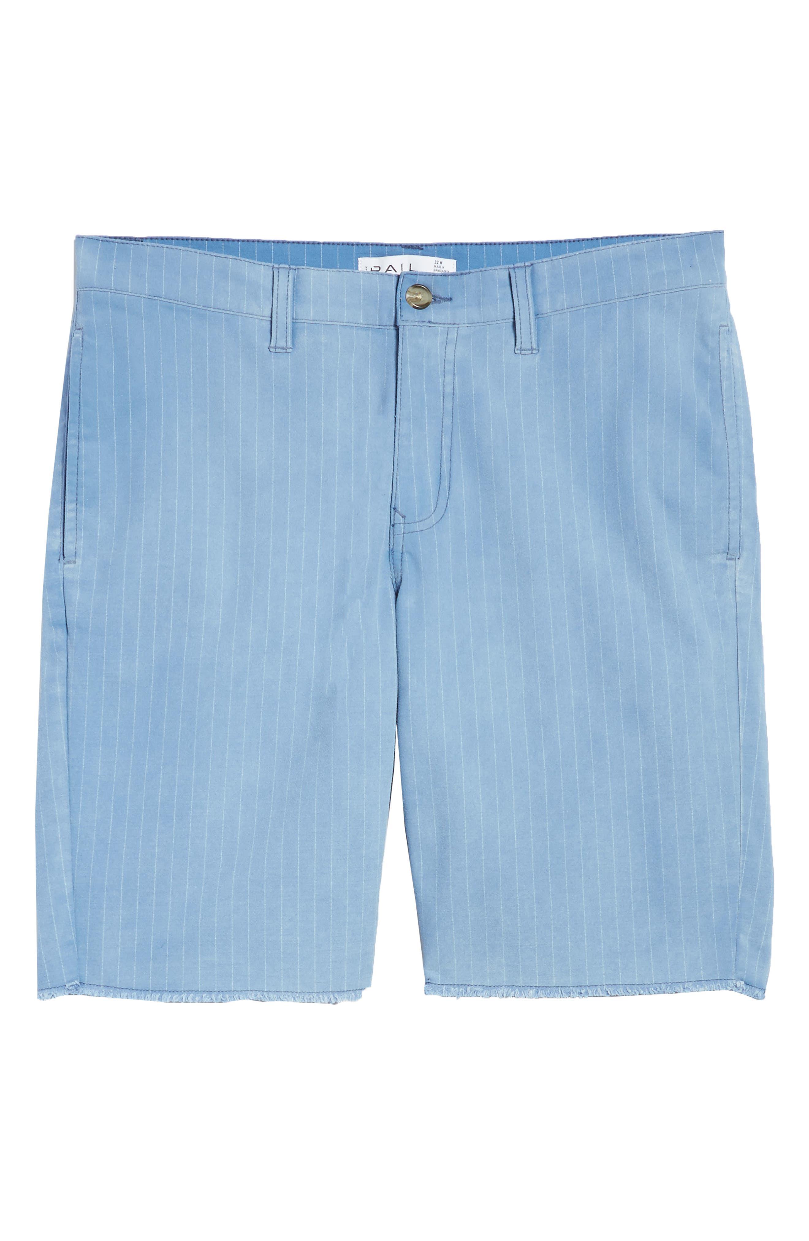 Print Frost Wash Shorts,                             Alternate thumbnail 6, color,                             Blue Camp Stripe