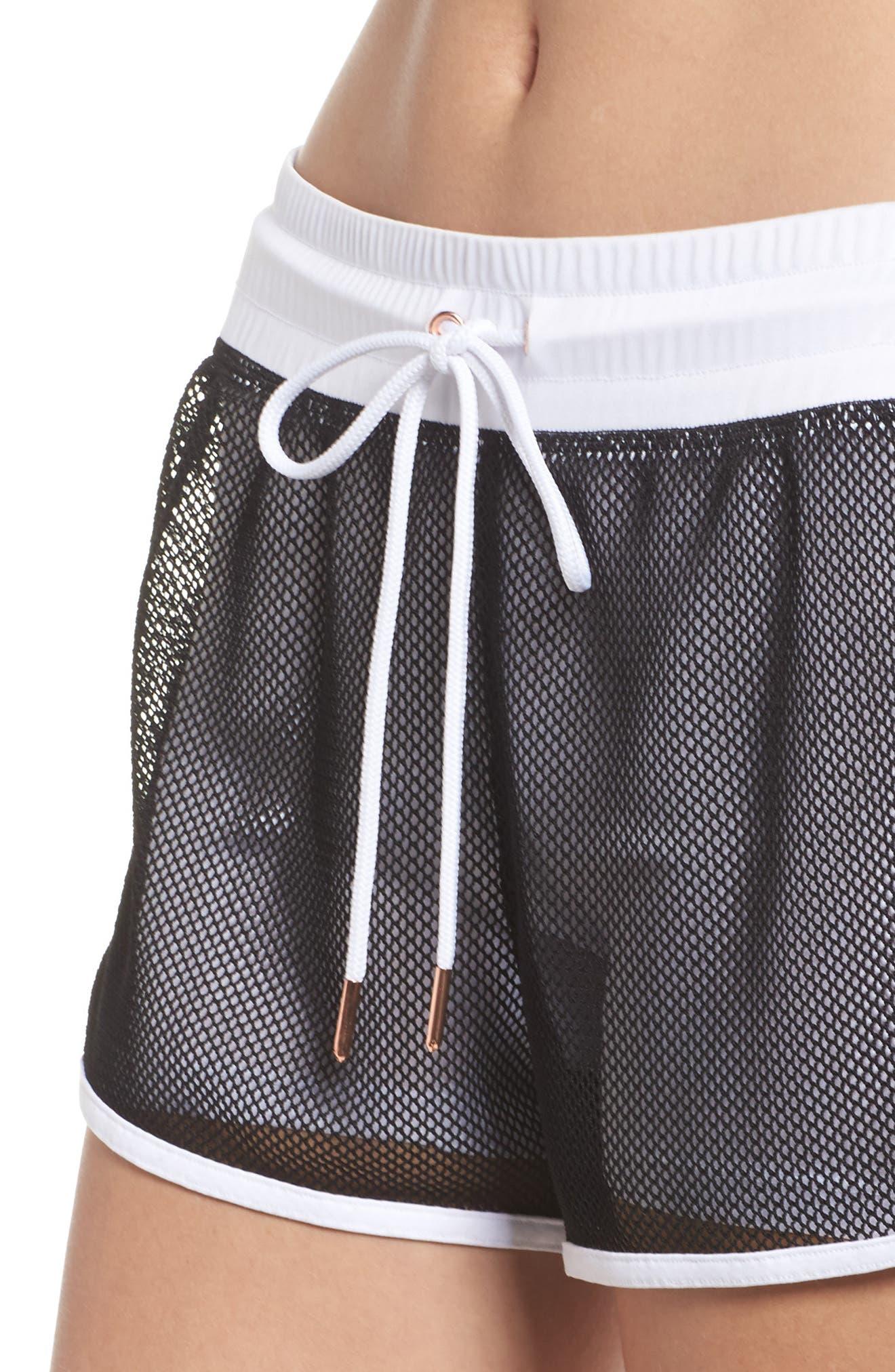 Mesh 2-in-1 Mesh Shorts,                             Alternate thumbnail 4, color,                             White