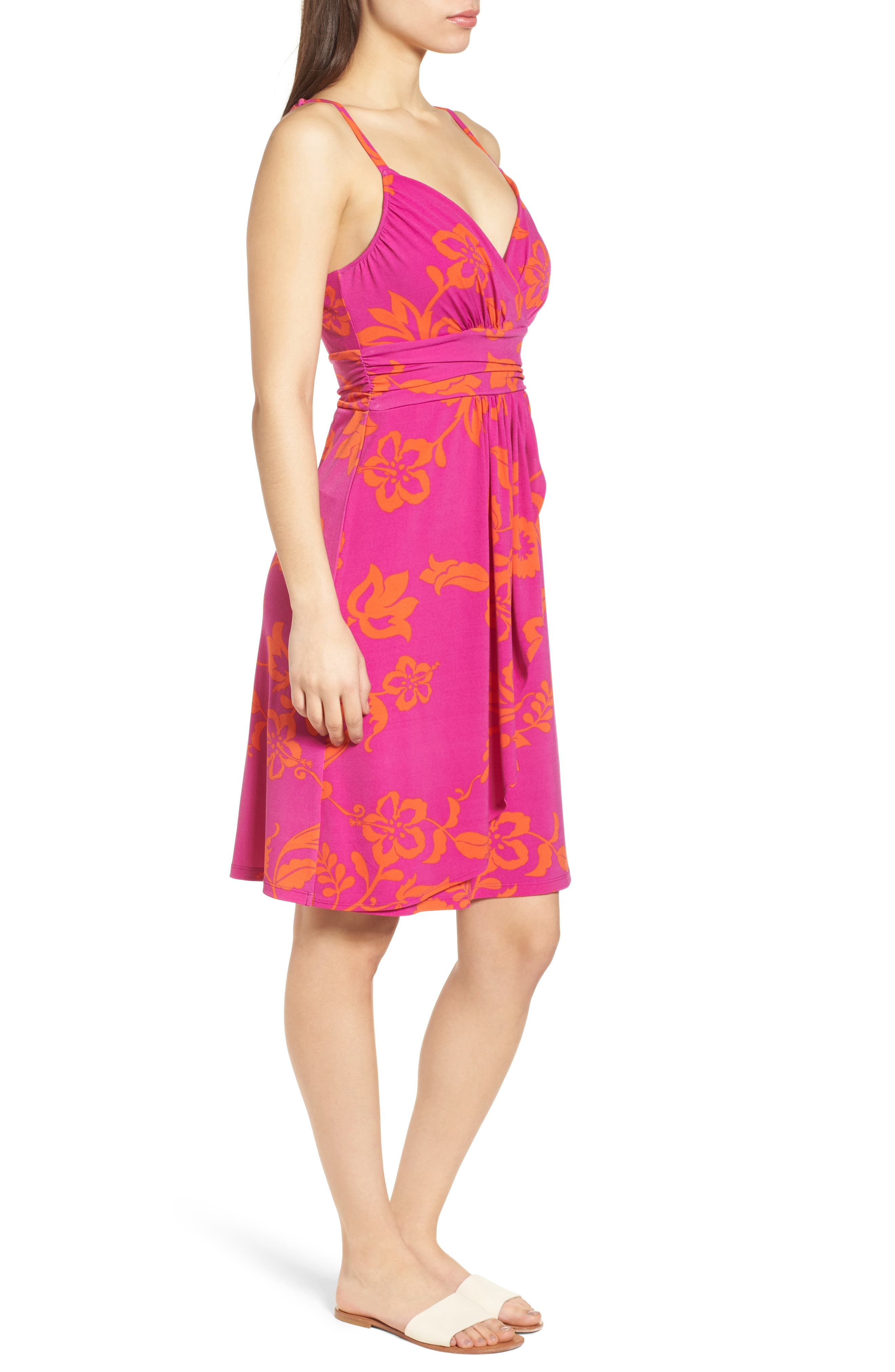 San Lucia Minidress,                             Alternate thumbnail 3, color,                             Festival Pink