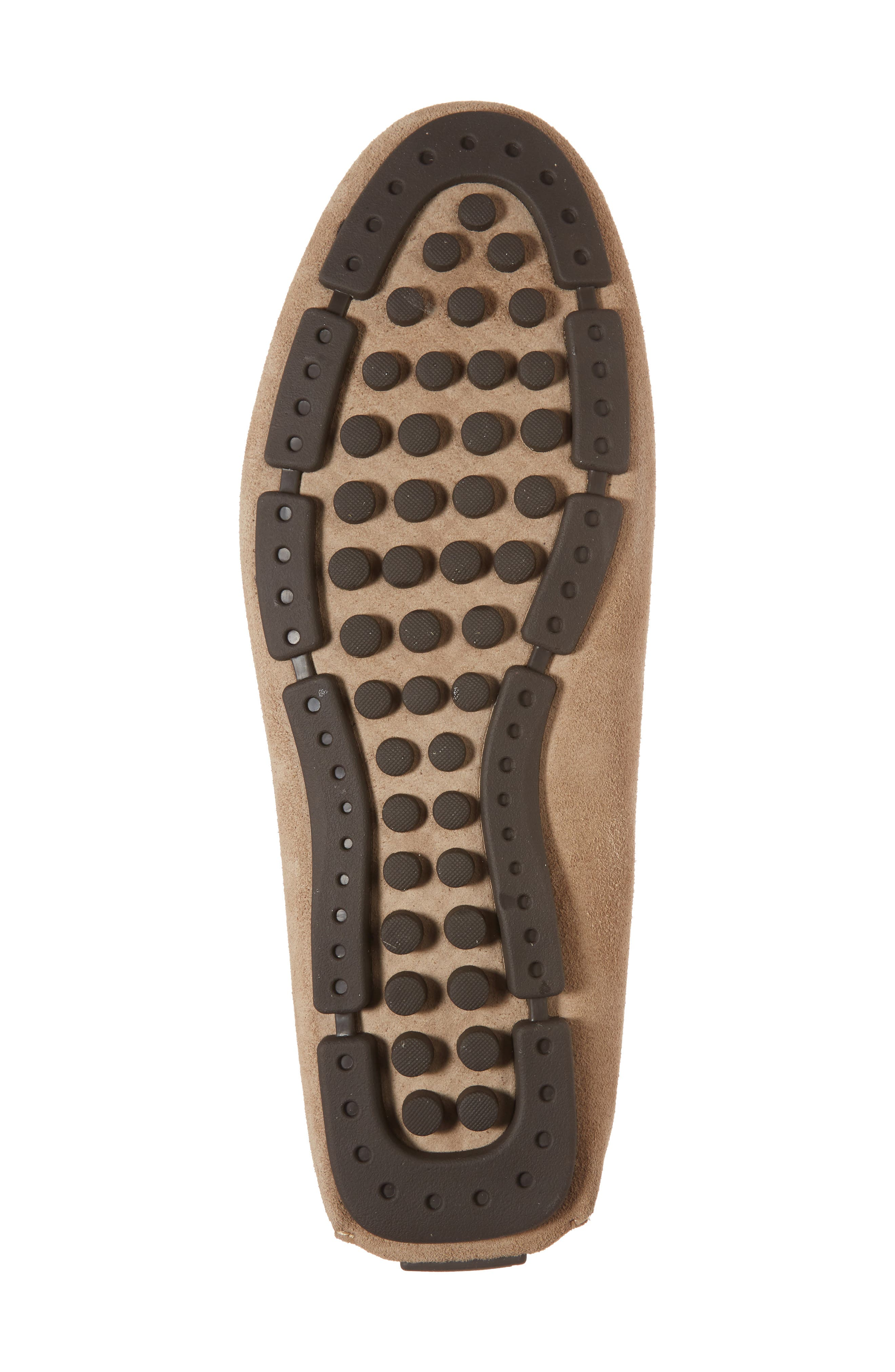 Scottsdale Perforated Driving Moccasin,                             Alternate thumbnail 6, color,                             Tan Suede