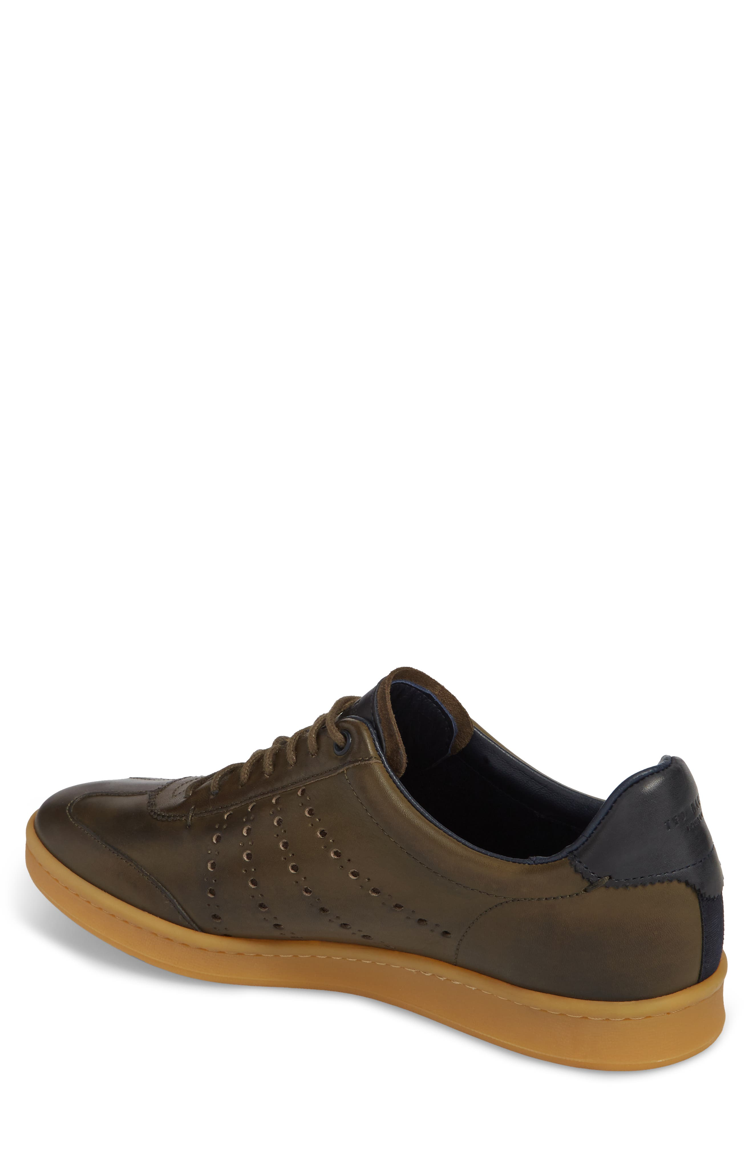 Orlee Sneaker,                             Alternate thumbnail 2, color,                             Dark Green Leather