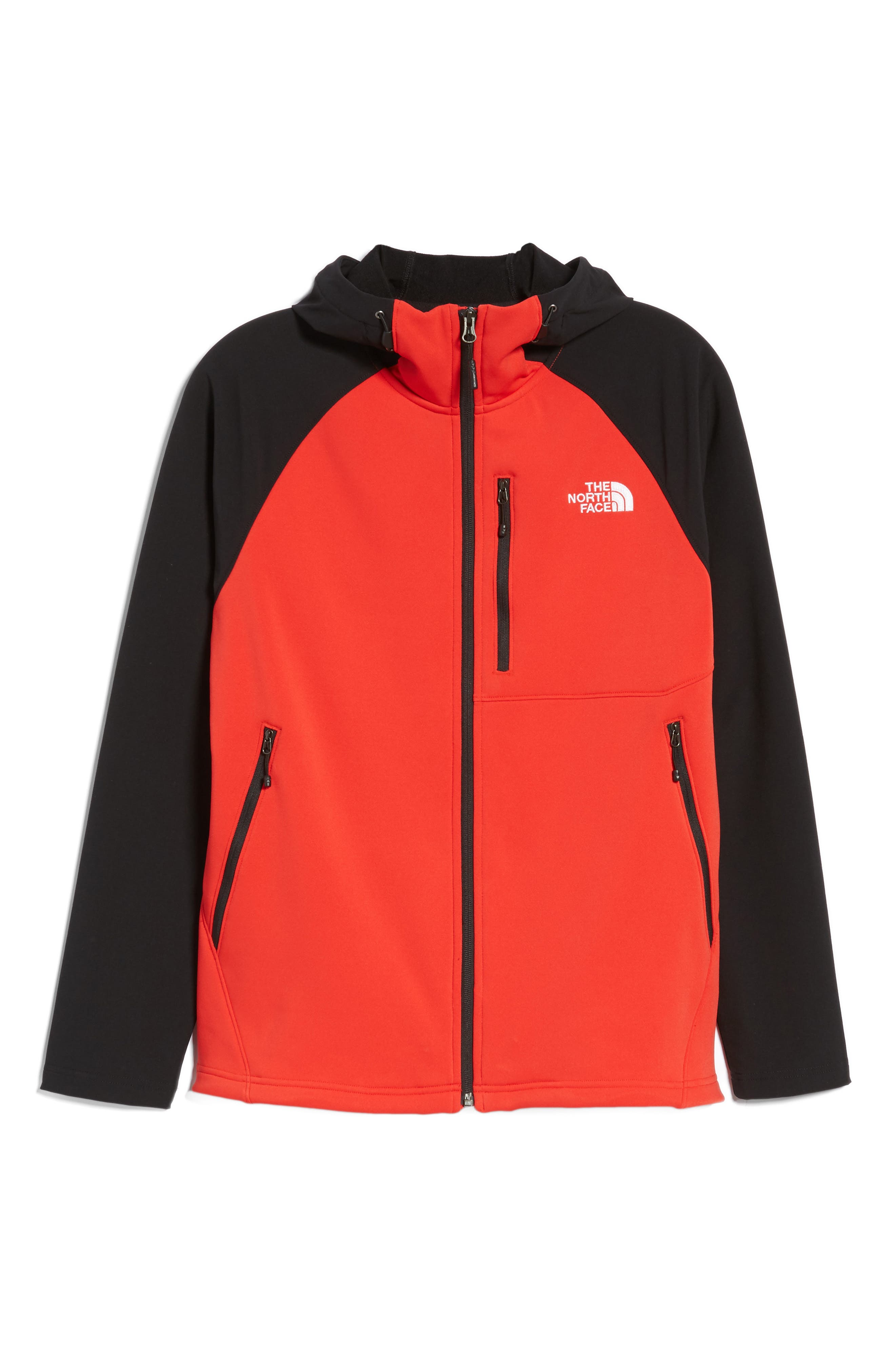 Tenacious Water Repellent Hybrid Jacket,                             Alternate thumbnail 5, color,                             High Risk Red/ Tnf Black