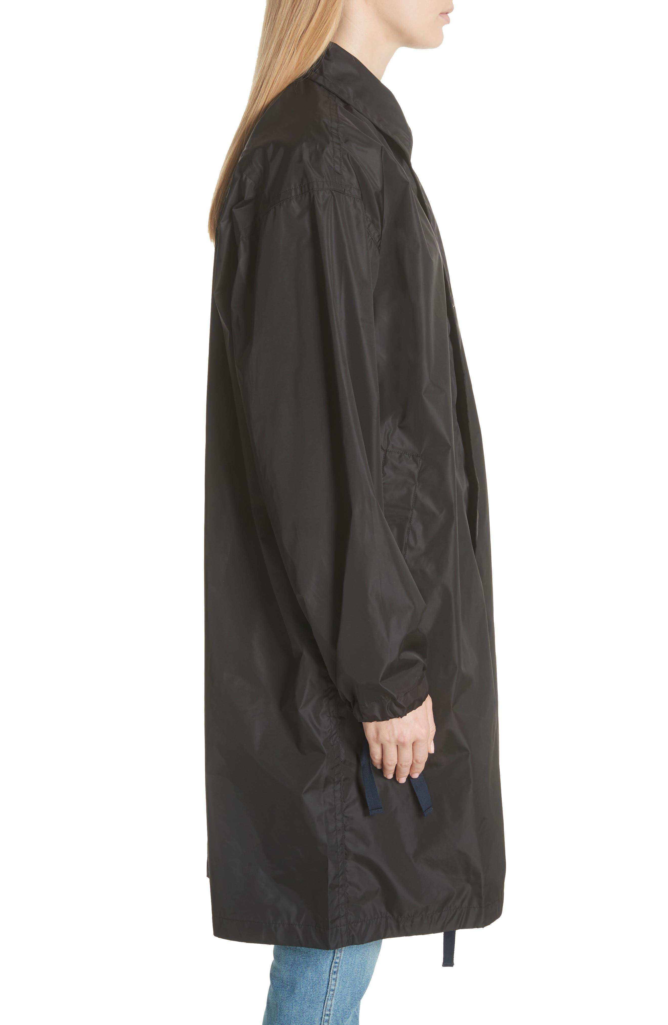 Raincoat with Inside Suspenders,                             Alternate thumbnail 4, color,                             Black