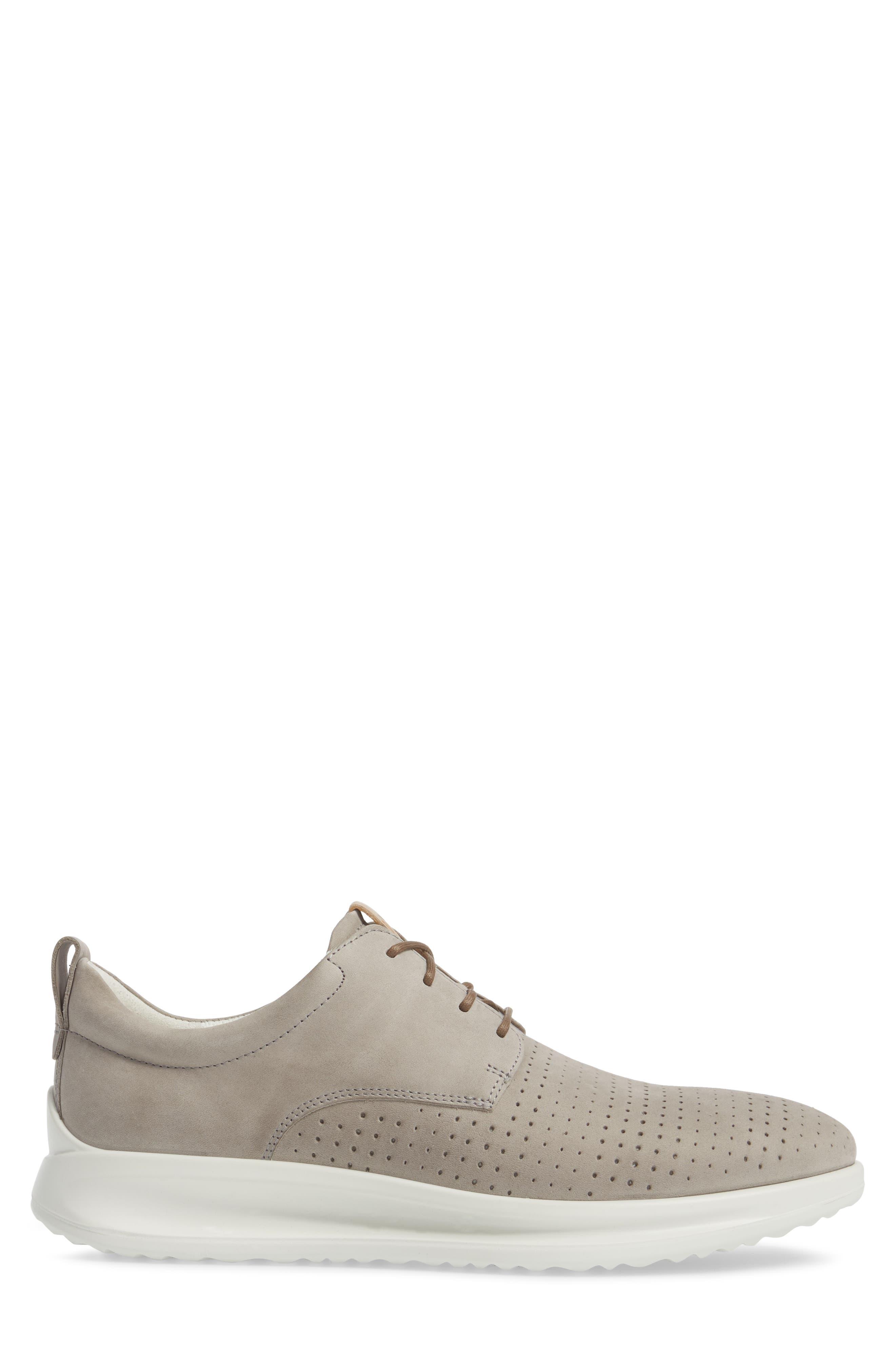 Aquet Sneaker,                             Alternate thumbnail 3, color,                             Moon Rock Leather