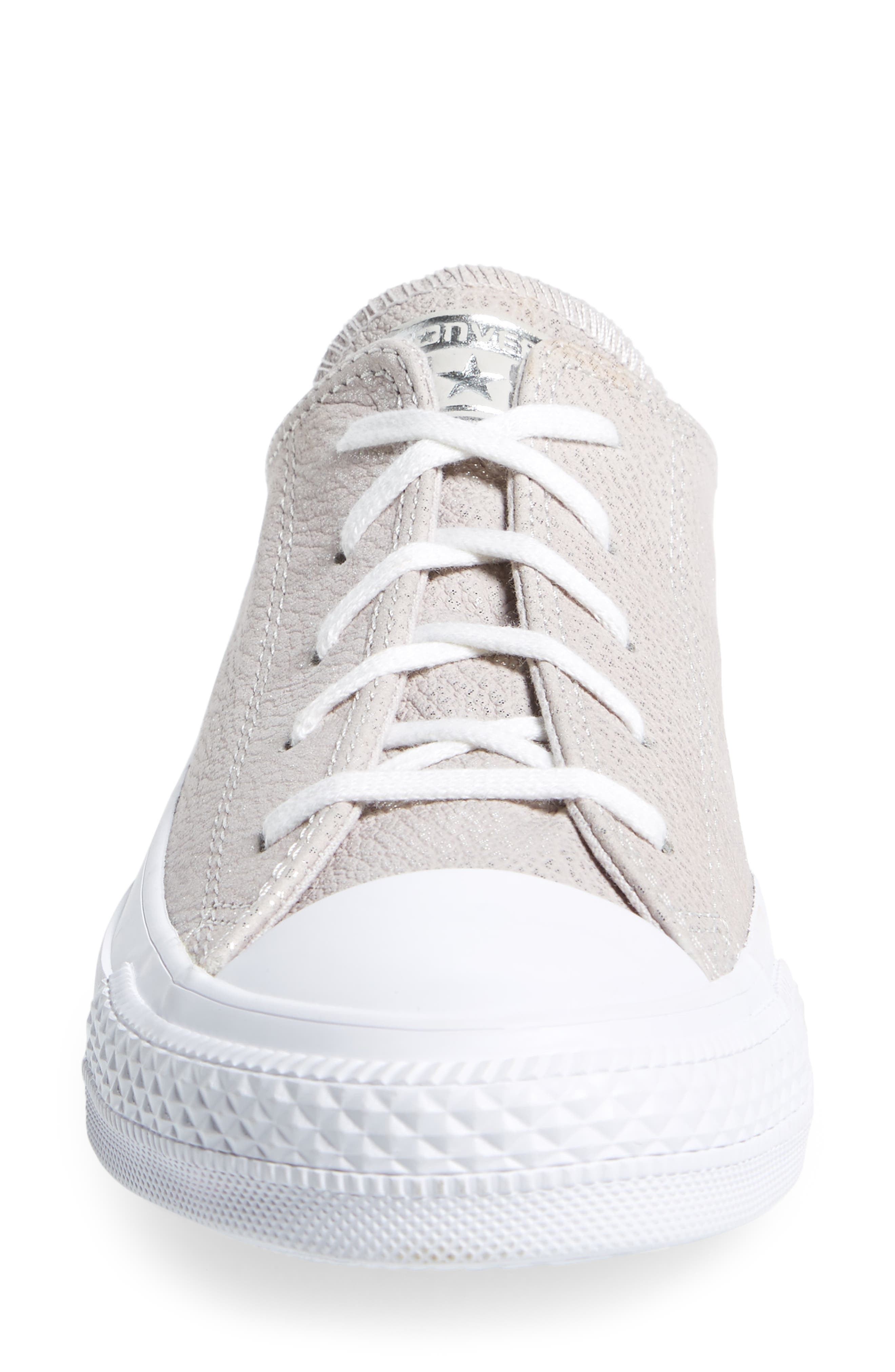 Chuck Taylor<sup>®</sup> All Star<sup>®</sup> Tipped Metallic Low Top Sneaker,                             Alternate thumbnail 4, color,                             Pale Putty