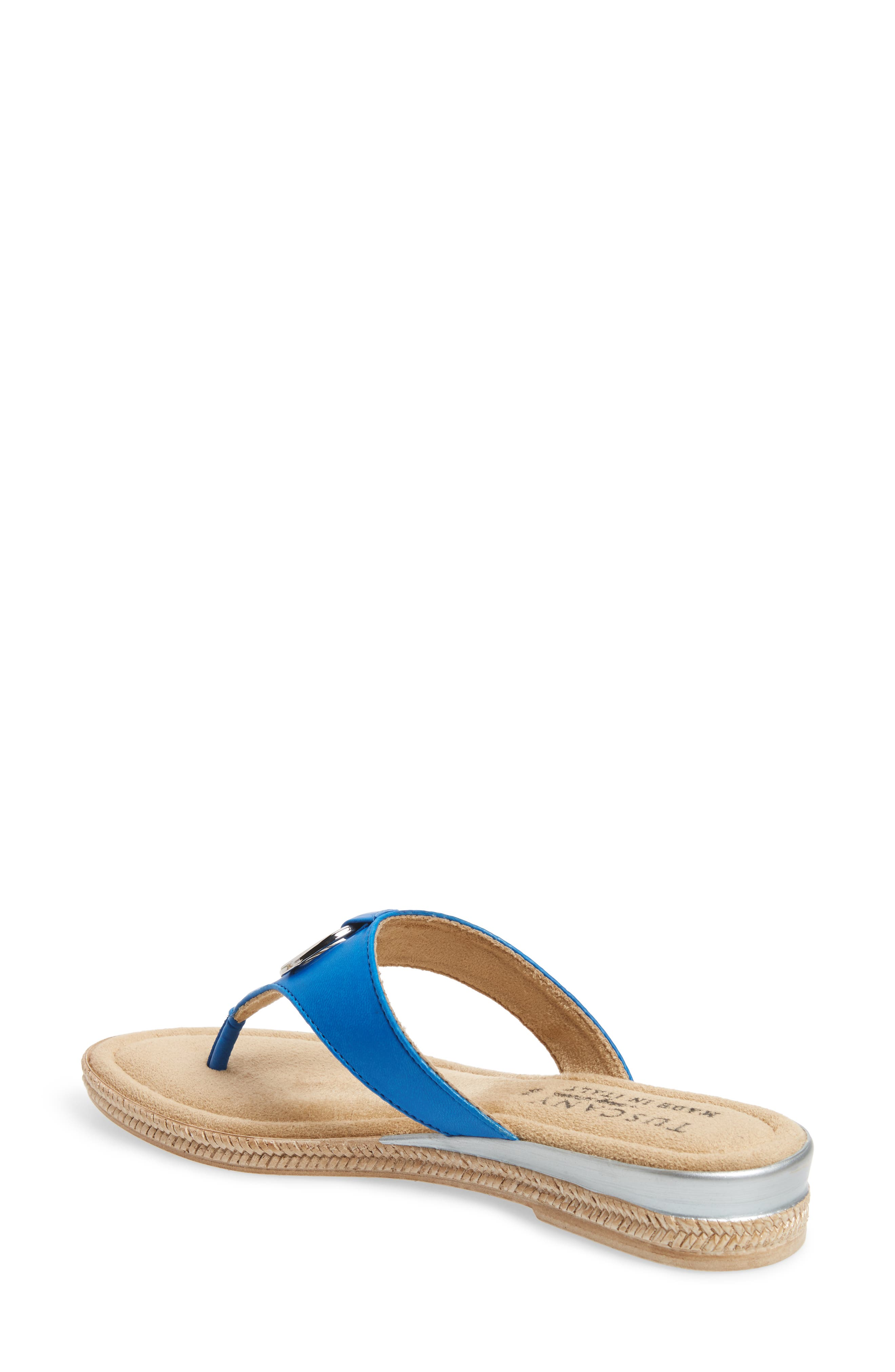 by Easy Street<sup>®</sup> Belinda Flip Flop,                             Alternate thumbnail 2, color,                             Blue Faux Leather