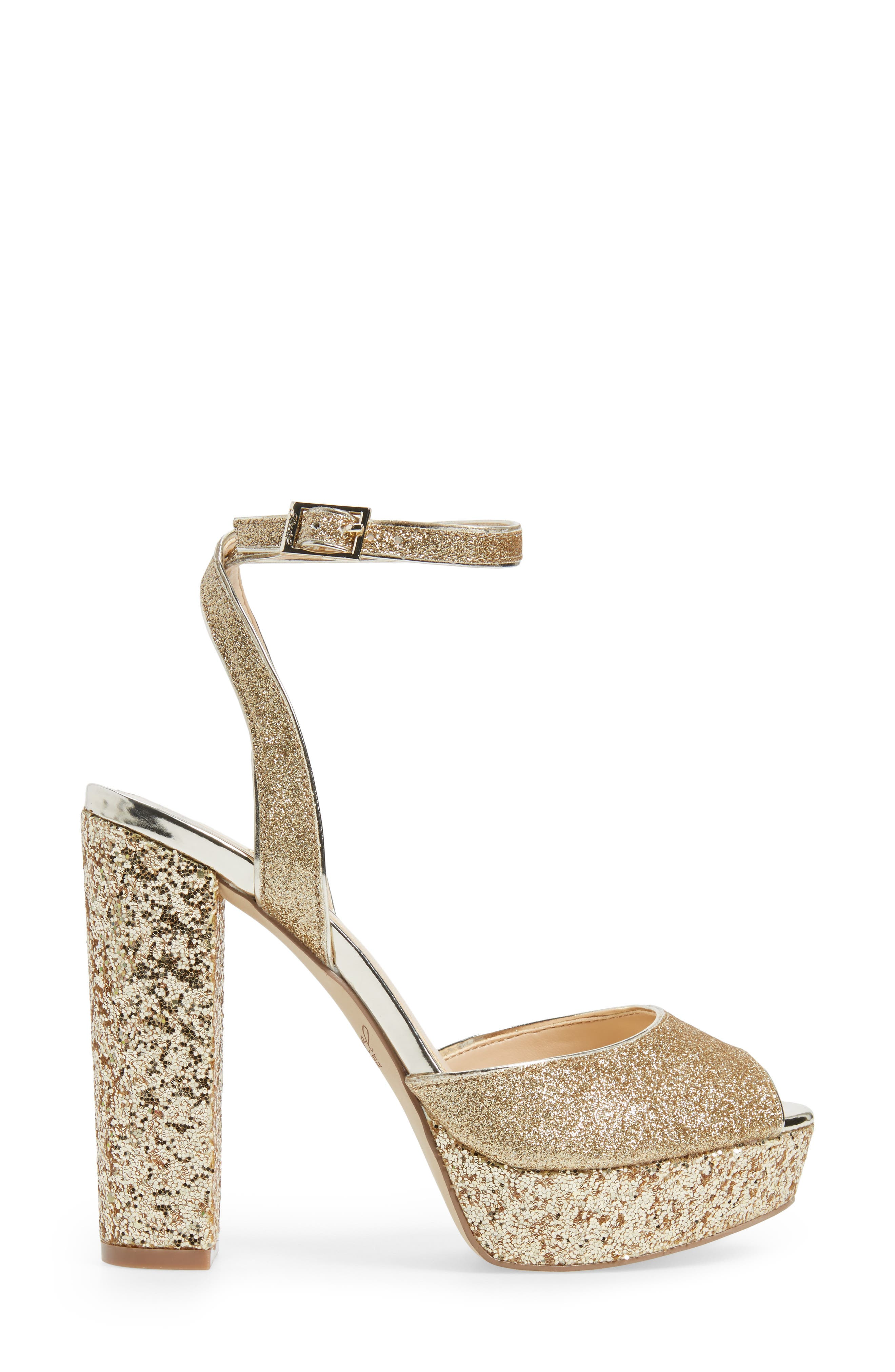 Alternate Image 3  - Jewel Badgley Mischka Luke Platform Sandal (Women)