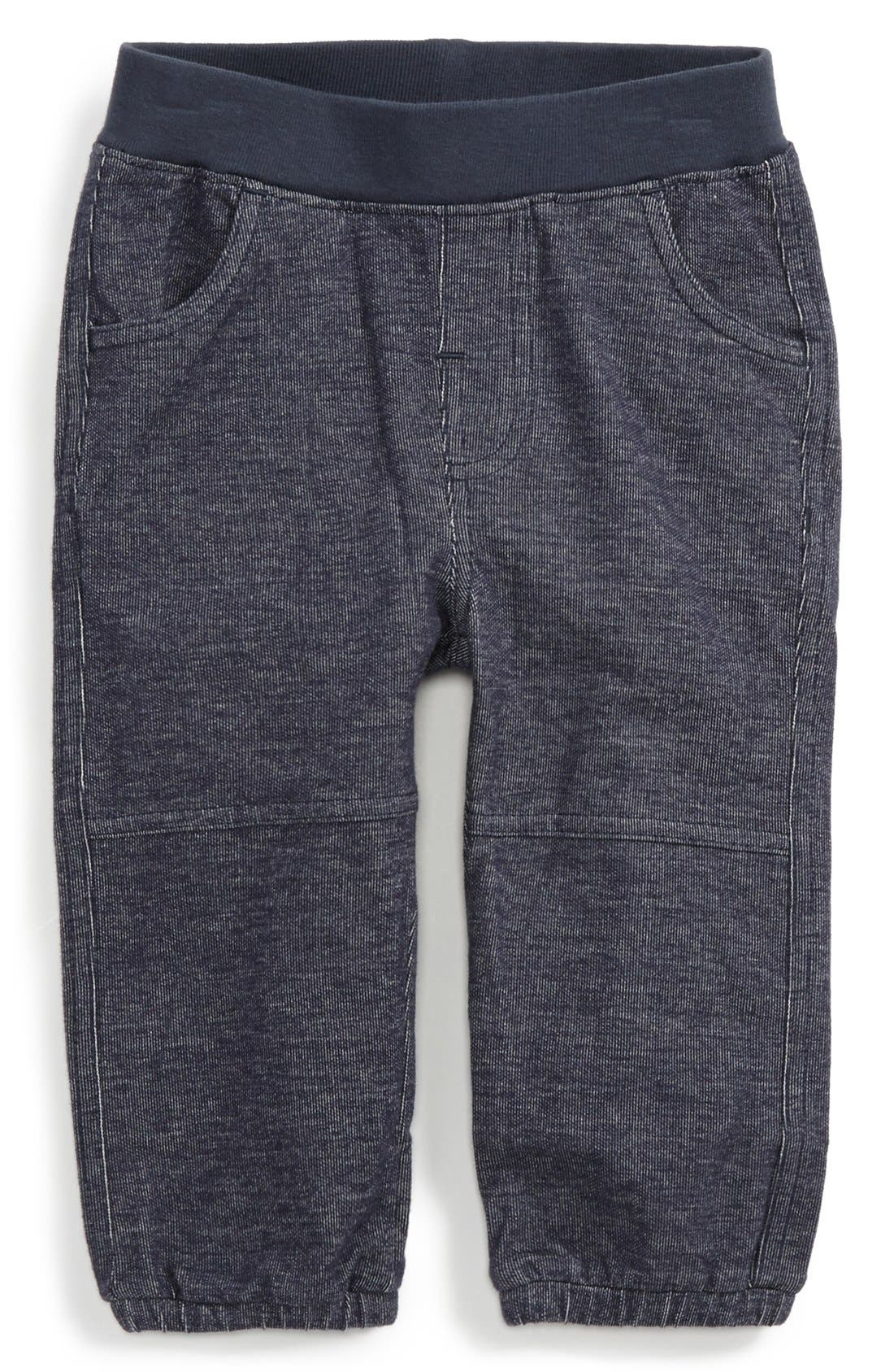 Denim Look Sweatpants,                         Main,                         color, Indigo