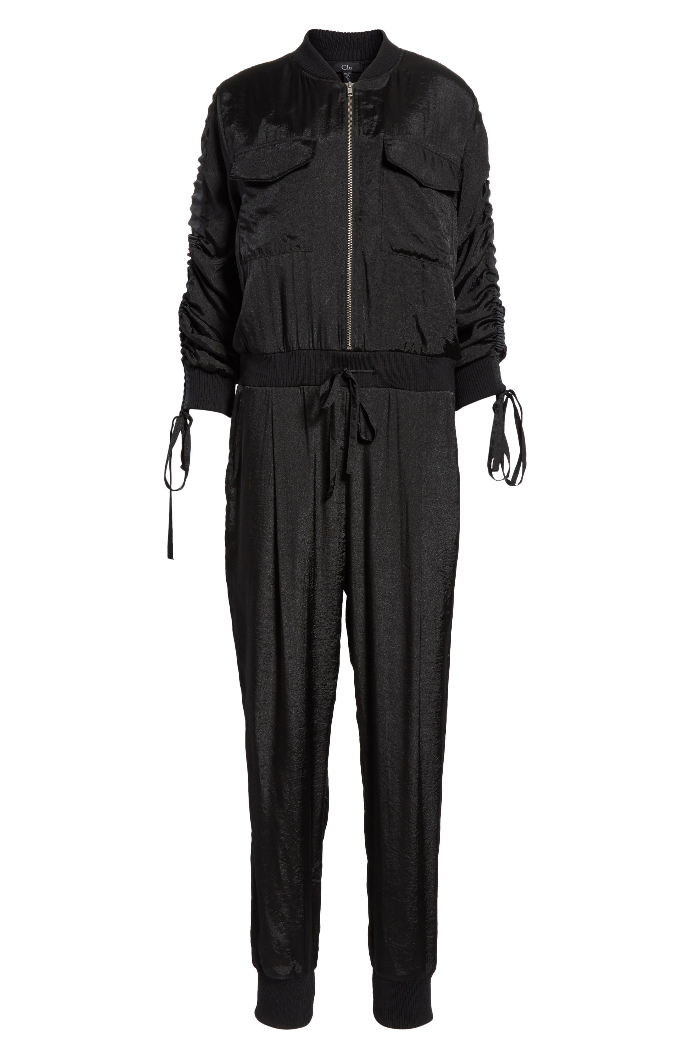 Alternate Image 6  - Clu Drawstring Sleeve Jumpsuit
