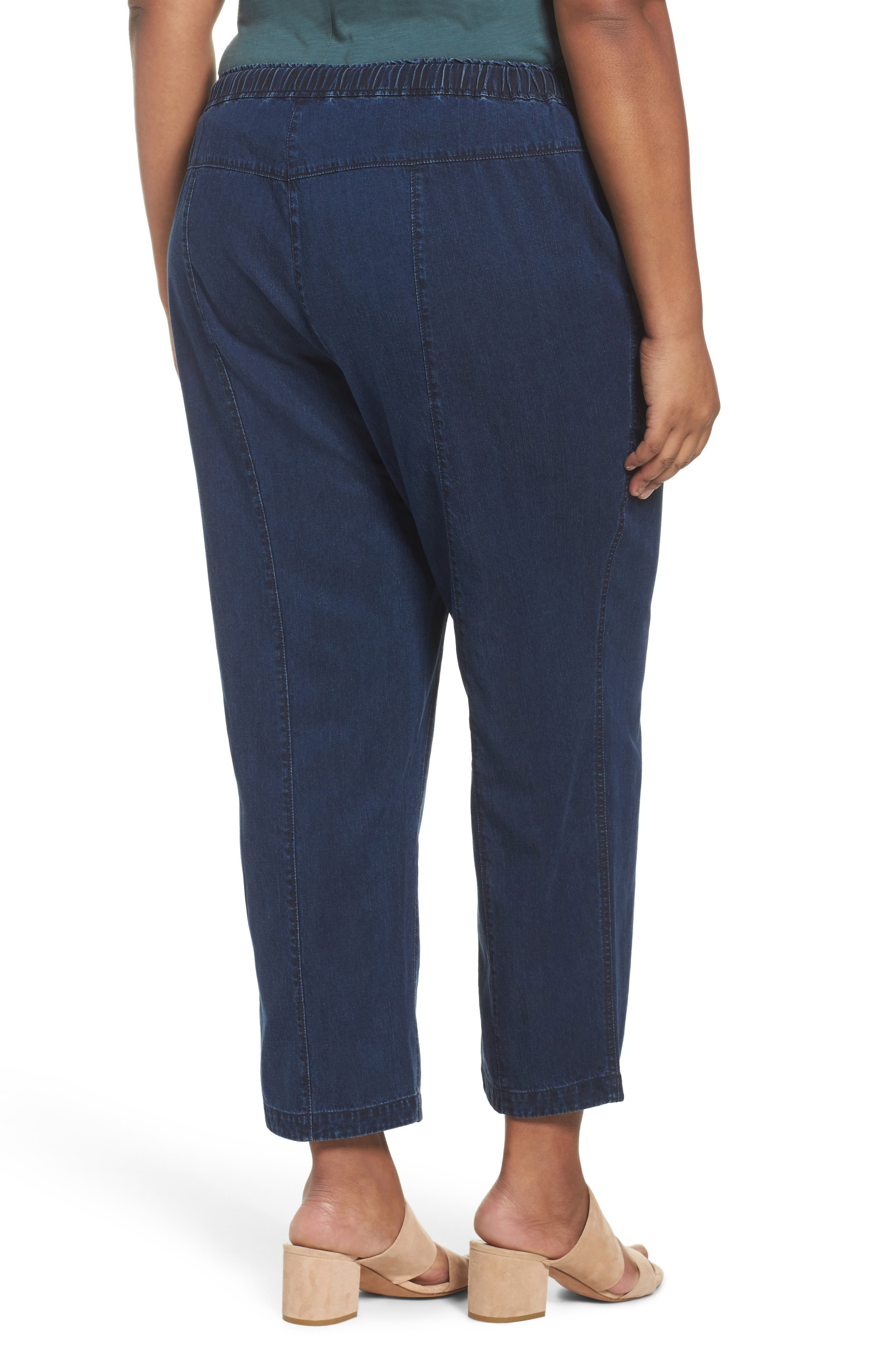 Alternate Image 2  - Eileen Fisher Slouchy Denim Ankle Pants (Plus Size)