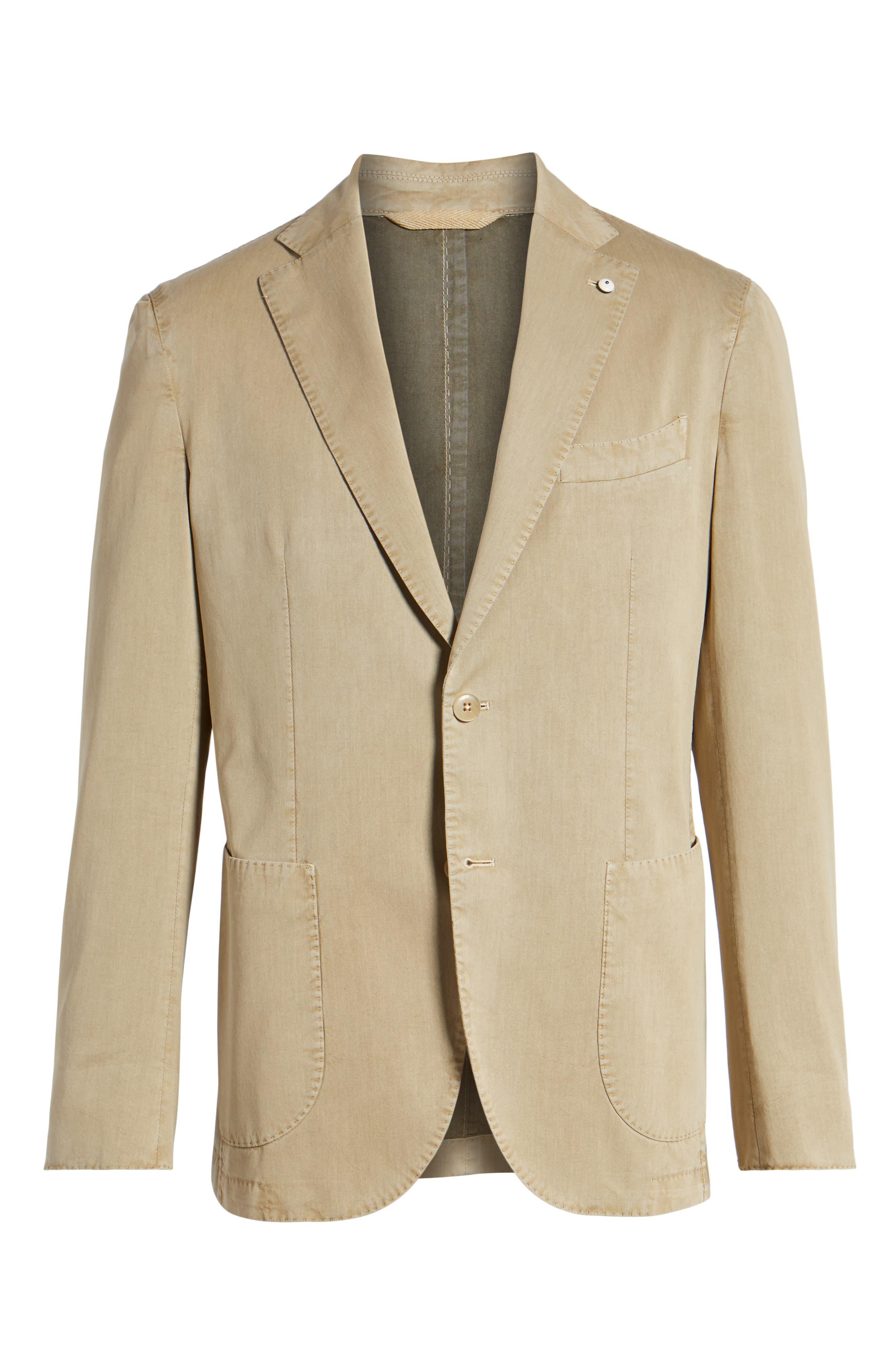 Classic Fit Cotton & Silk Blazer,                             Alternate thumbnail 6, color,                             Beige/ Khaki