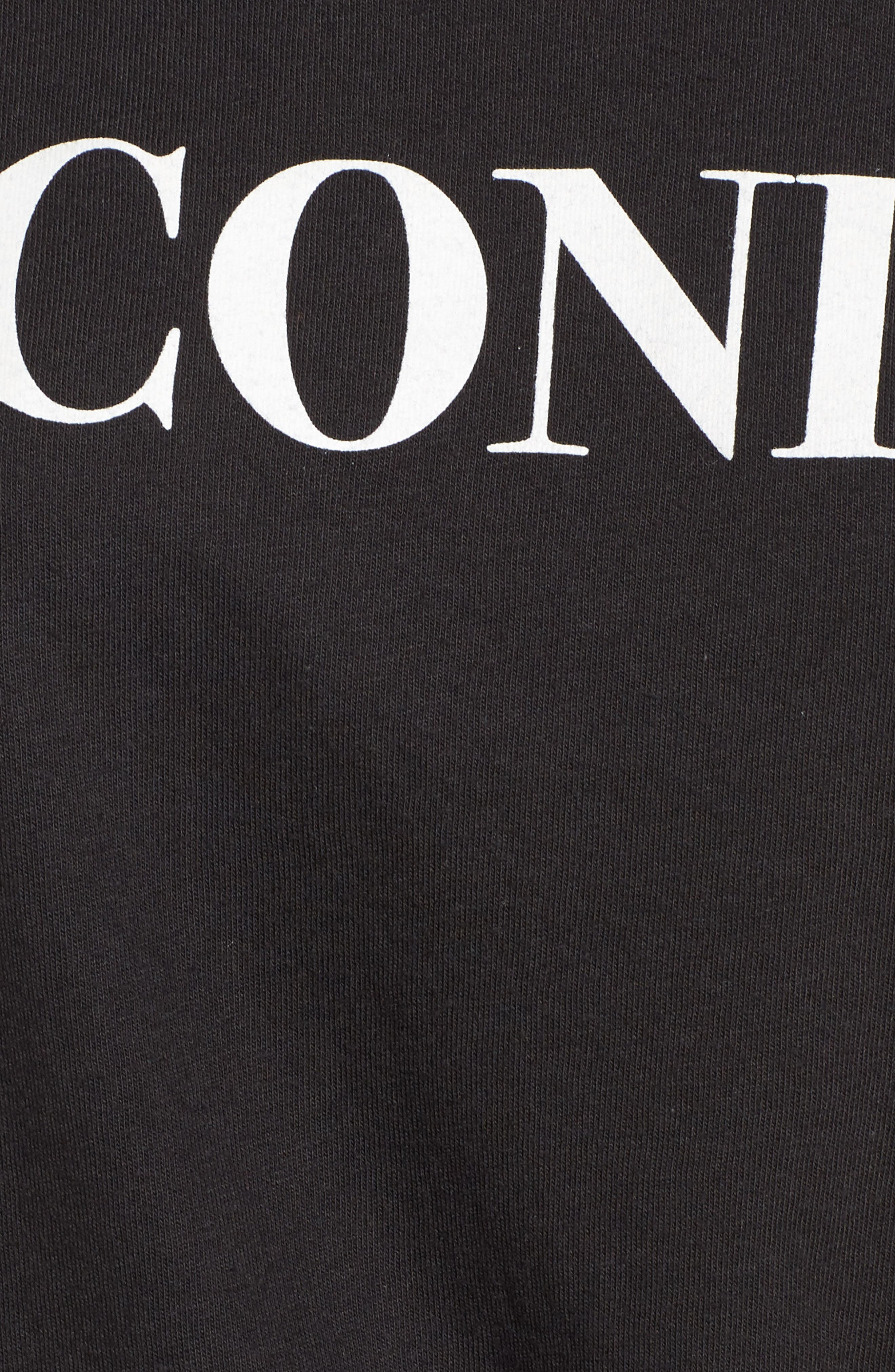 Iconic Slouched Graphic Tee,                             Alternate thumbnail 5, color,                             Black