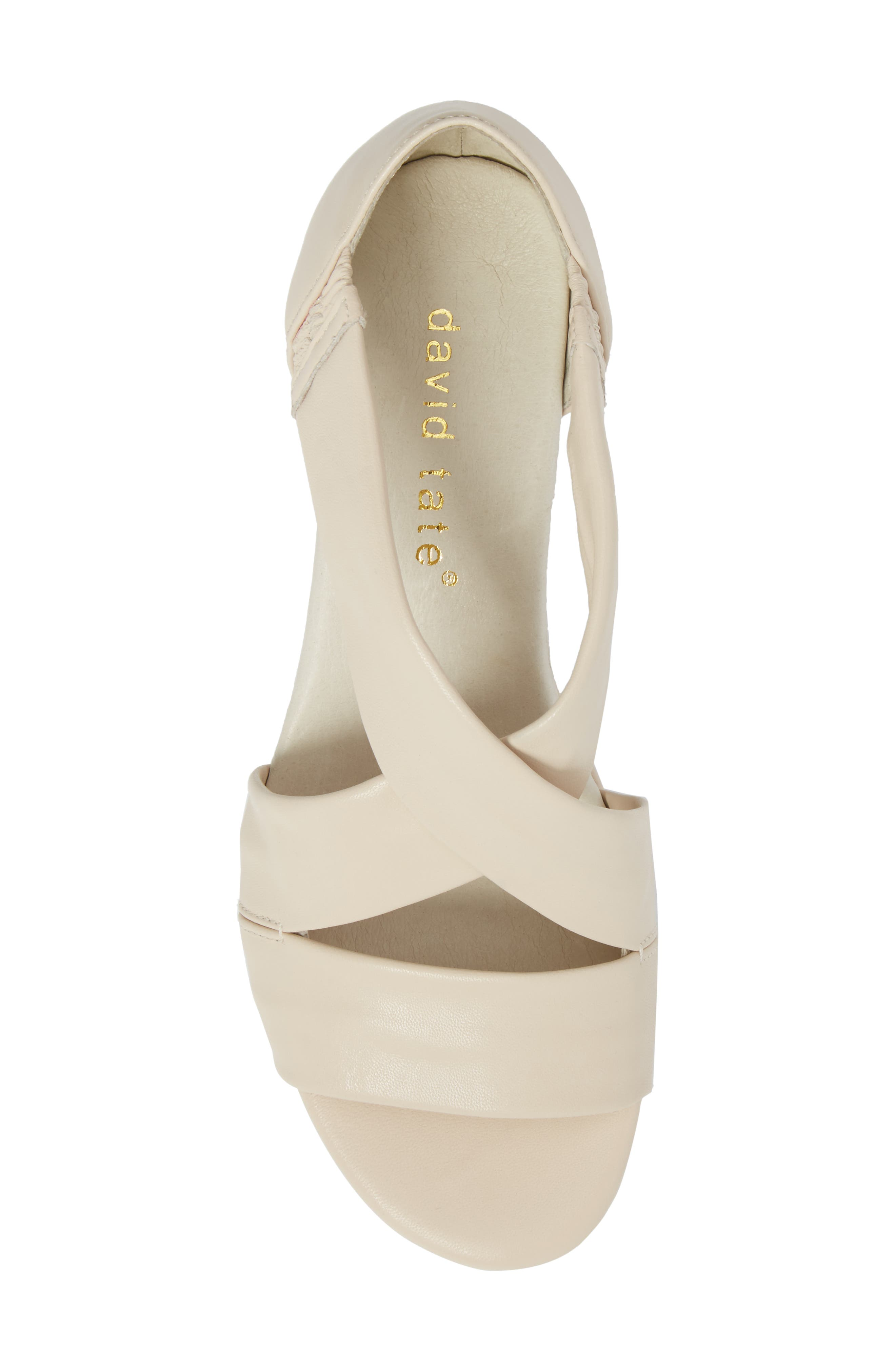 Swell Cross Strap Wedge Sandal,                             Alternate thumbnail 5, color,                             Bone Leather
