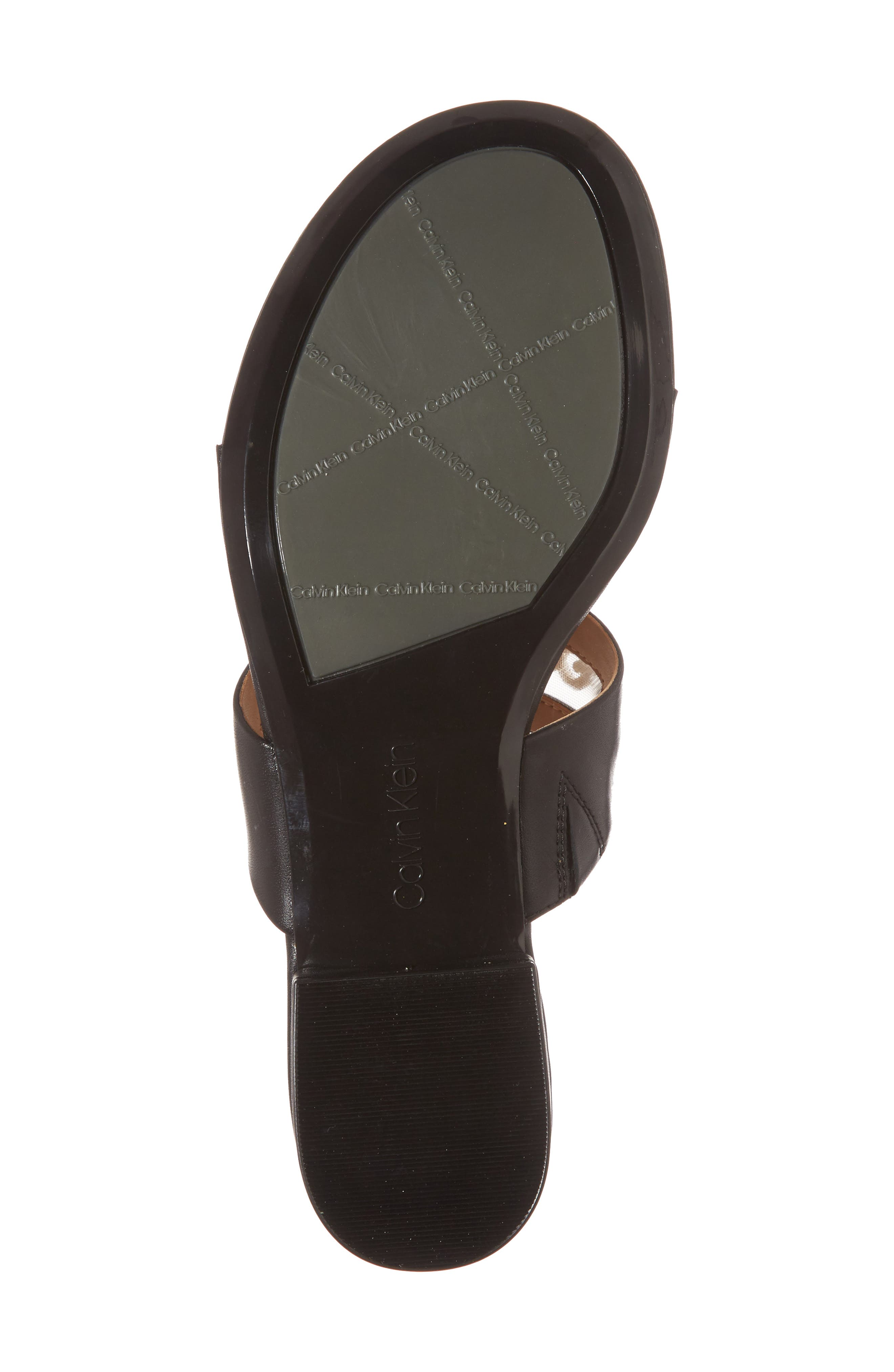 Francie Sandal,                             Alternate thumbnail 6, color,                             Black Leather