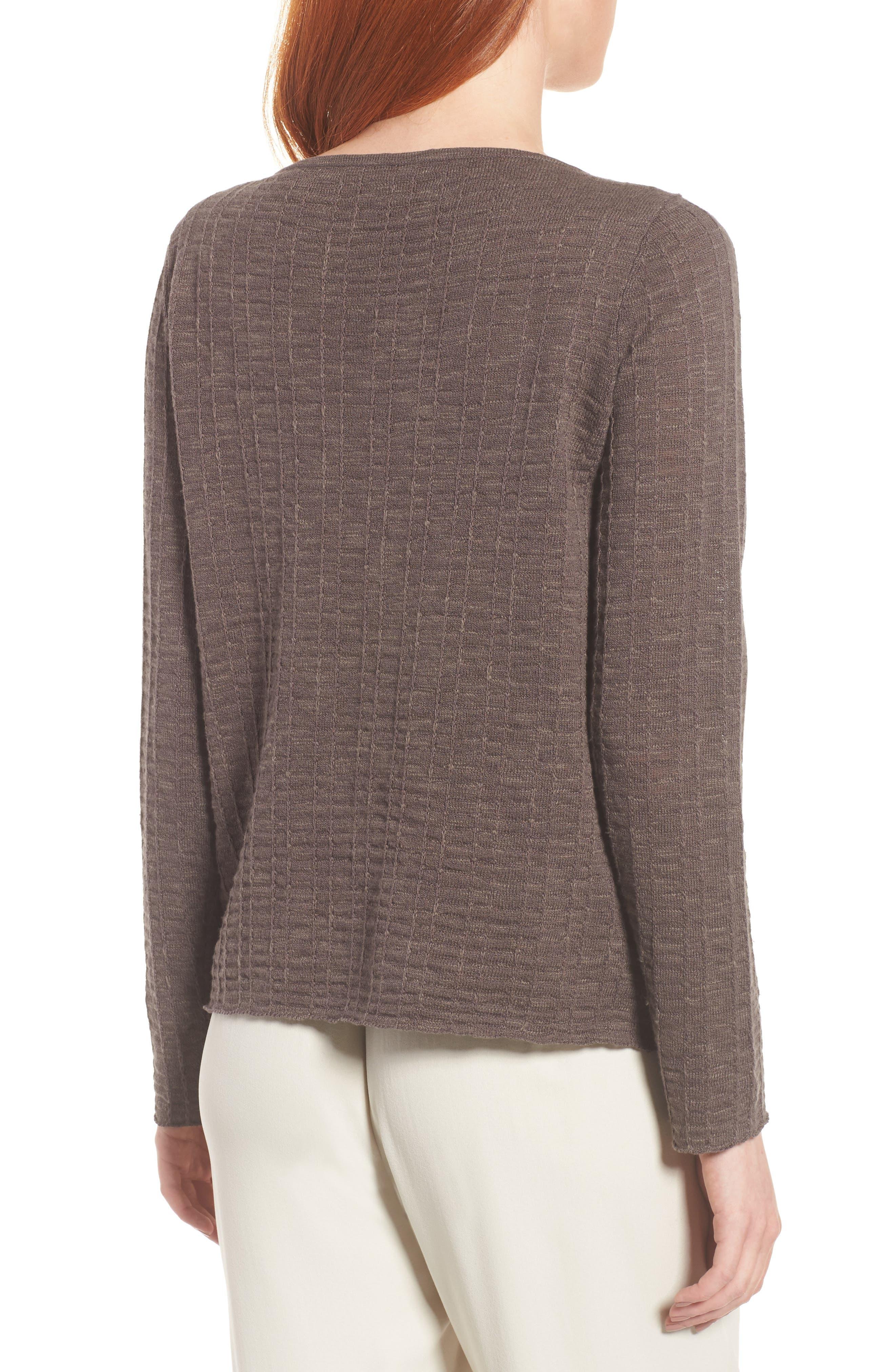 Organic Linen & Cotton Sweater,                             Alternate thumbnail 2, color,                             Rye