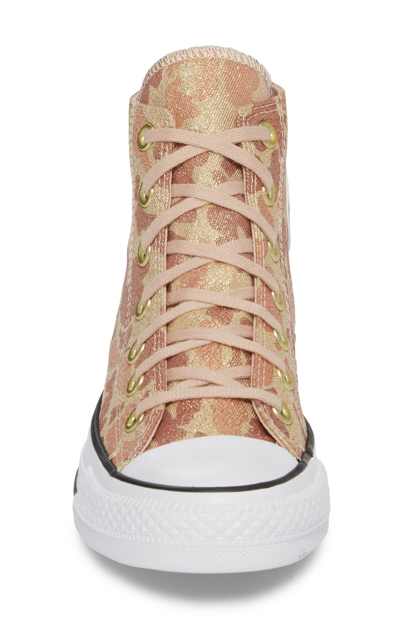 Chuck Taylor<sup>®</sup> All Star<sup>®</sup> High Top Sneaker,                             Alternate thumbnail 4, color,                             Particle Beige