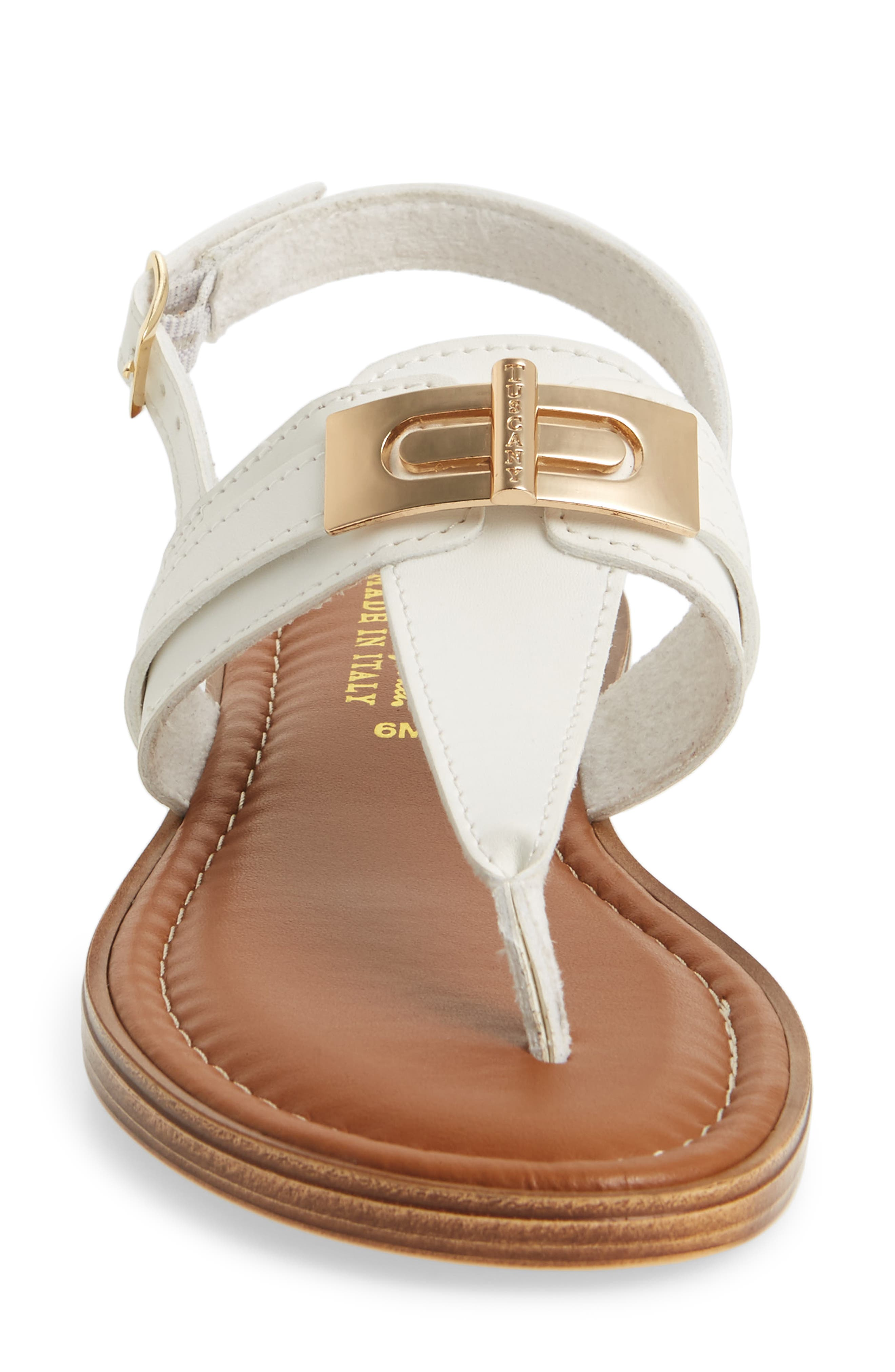 by Easy Street<sup>®</sup> Clariss Sandal,                             Alternate thumbnail 4, color,                             White Faux Leather