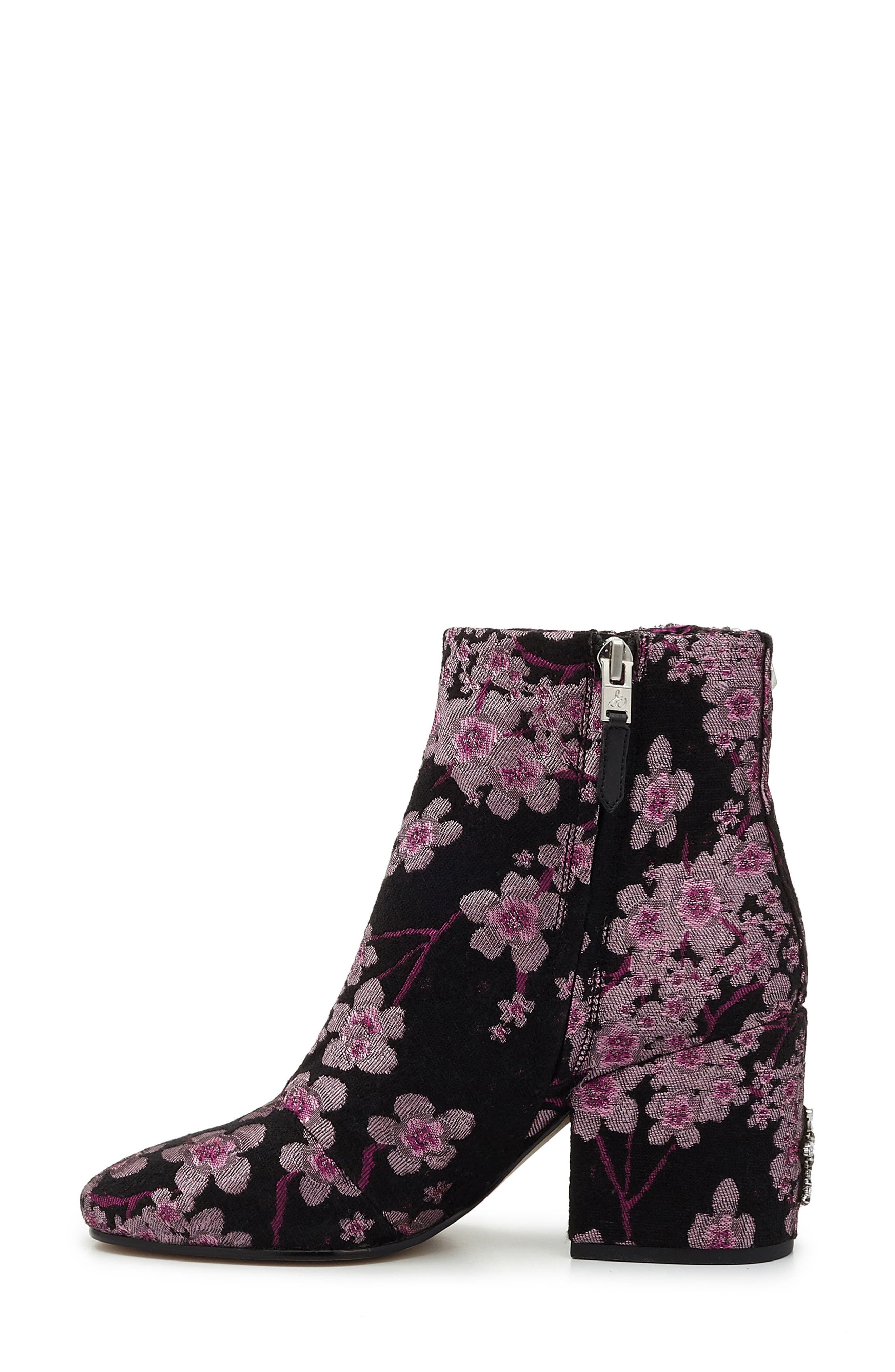 'Taye' Bootie,                             Alternate thumbnail 5, color,                             Pink Multi Brocade