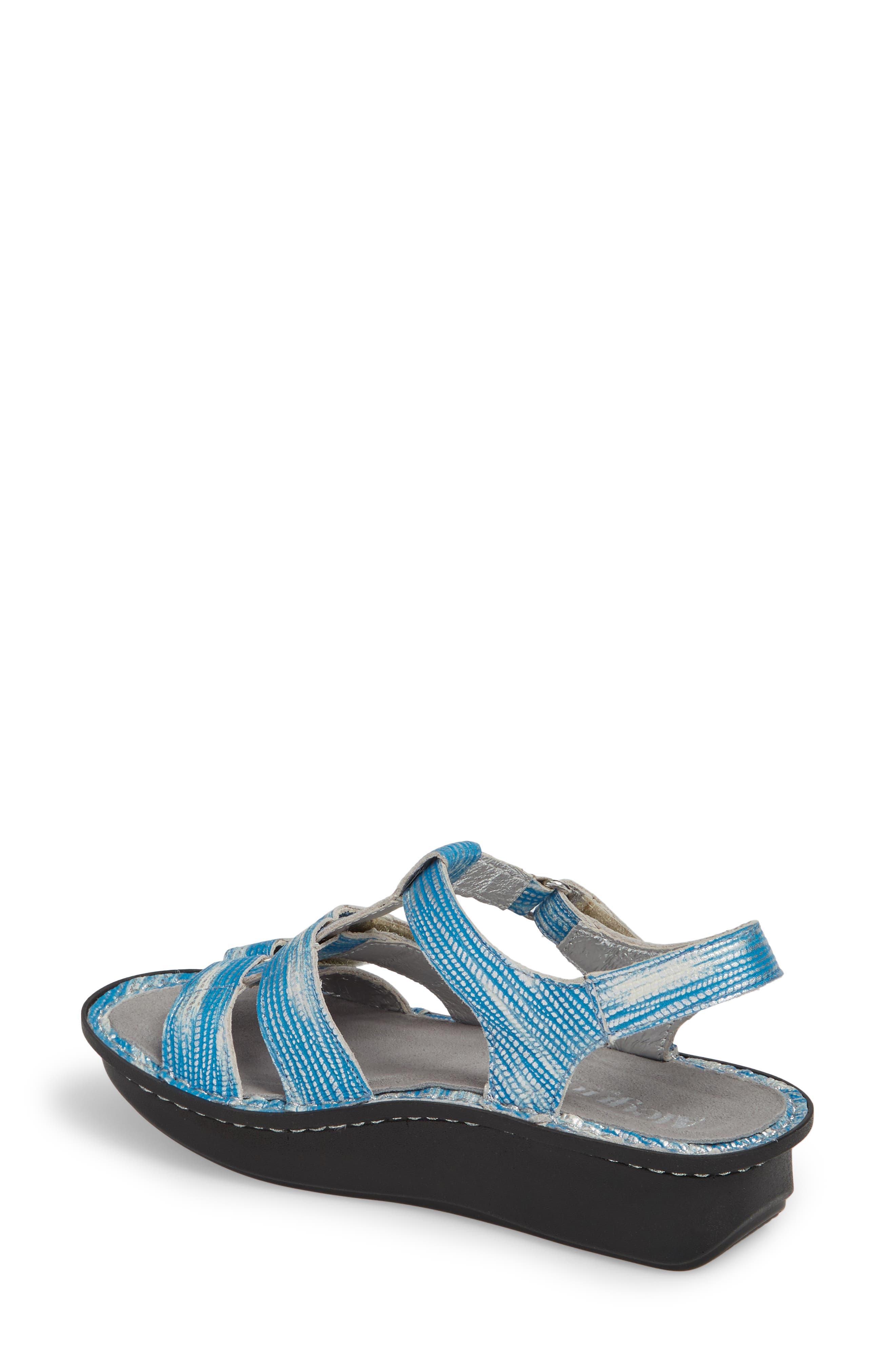 'Kleo' Sandal,                             Alternate thumbnail 2, color,                             Wrapture Blues Leather