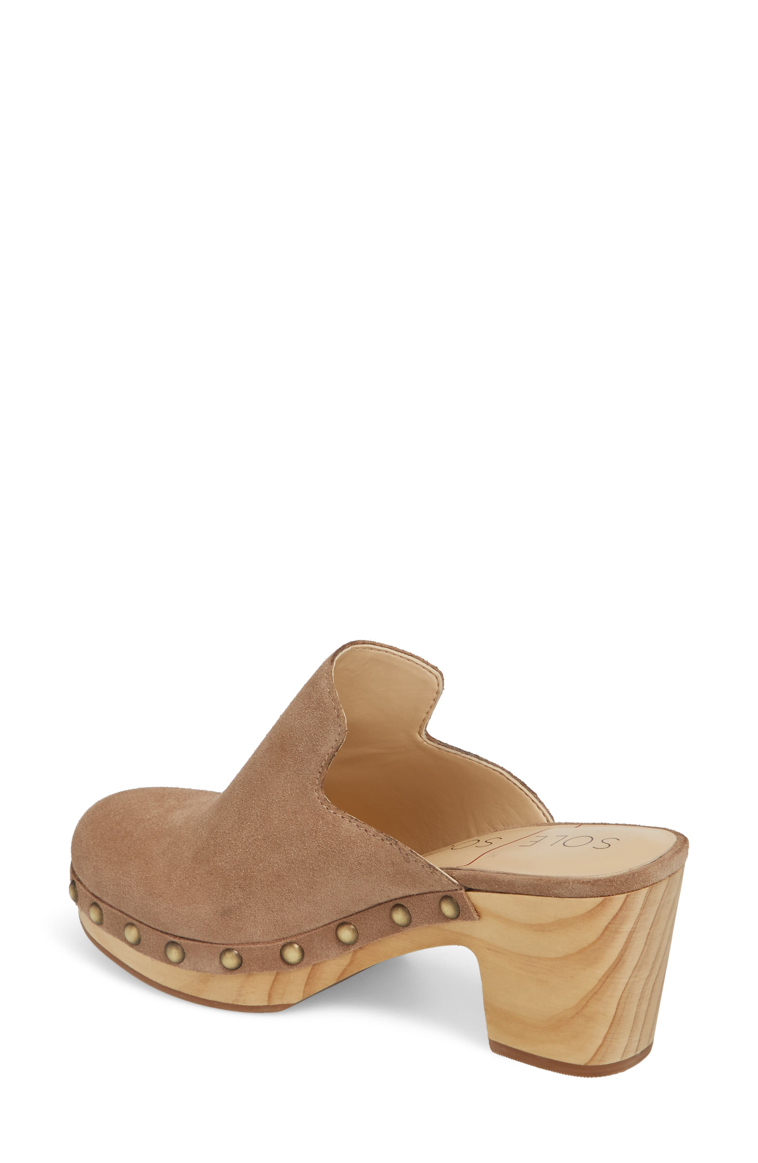 Madelina Clog,                             Alternate thumbnail 2, color,                             Taupe Cow Suede