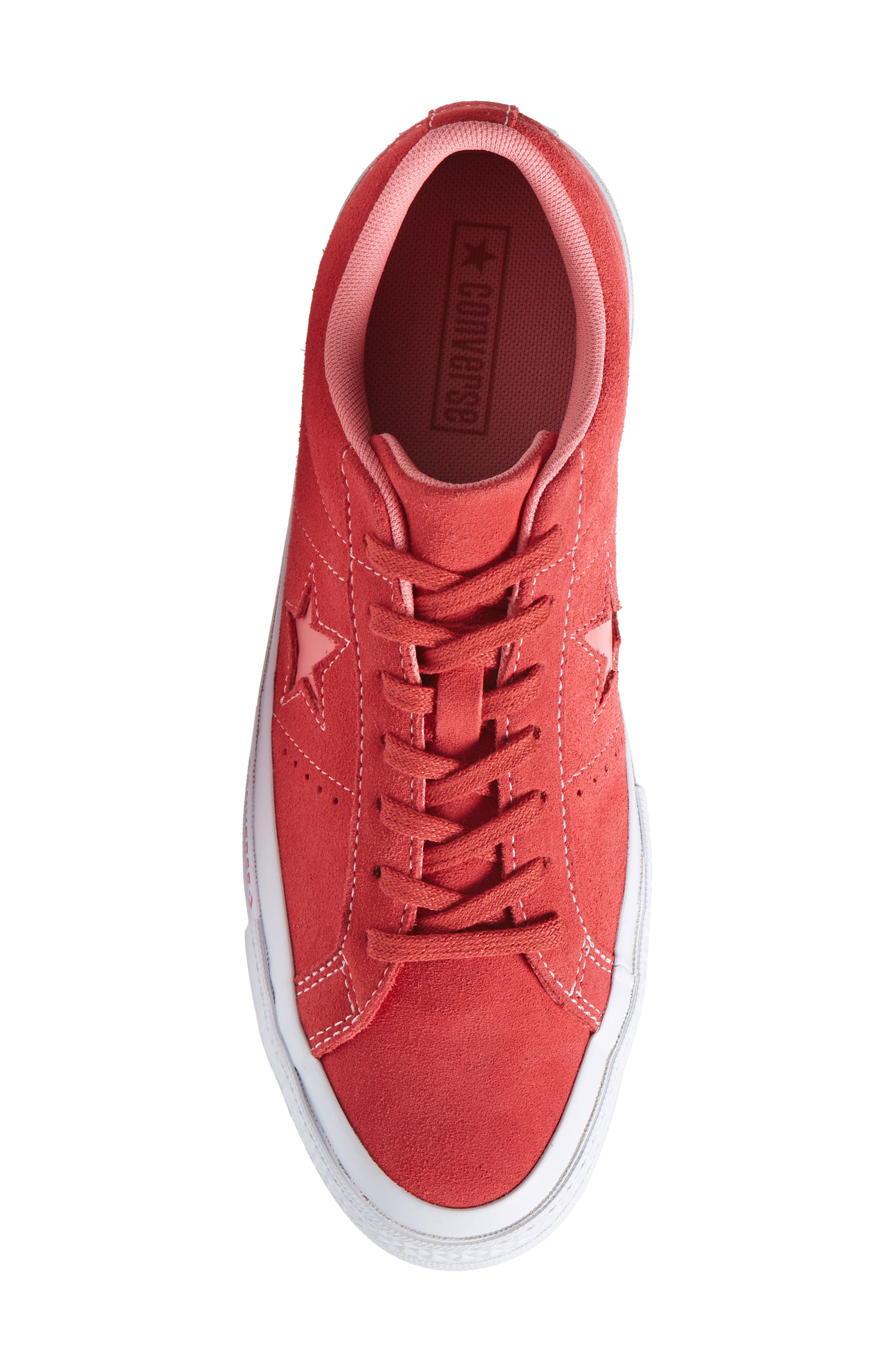 Chuck Taylor<sup>®</sup> One Star Pinstripe Sneaker,                             Alternate thumbnail 5, color,                             Paradise Pink Suede