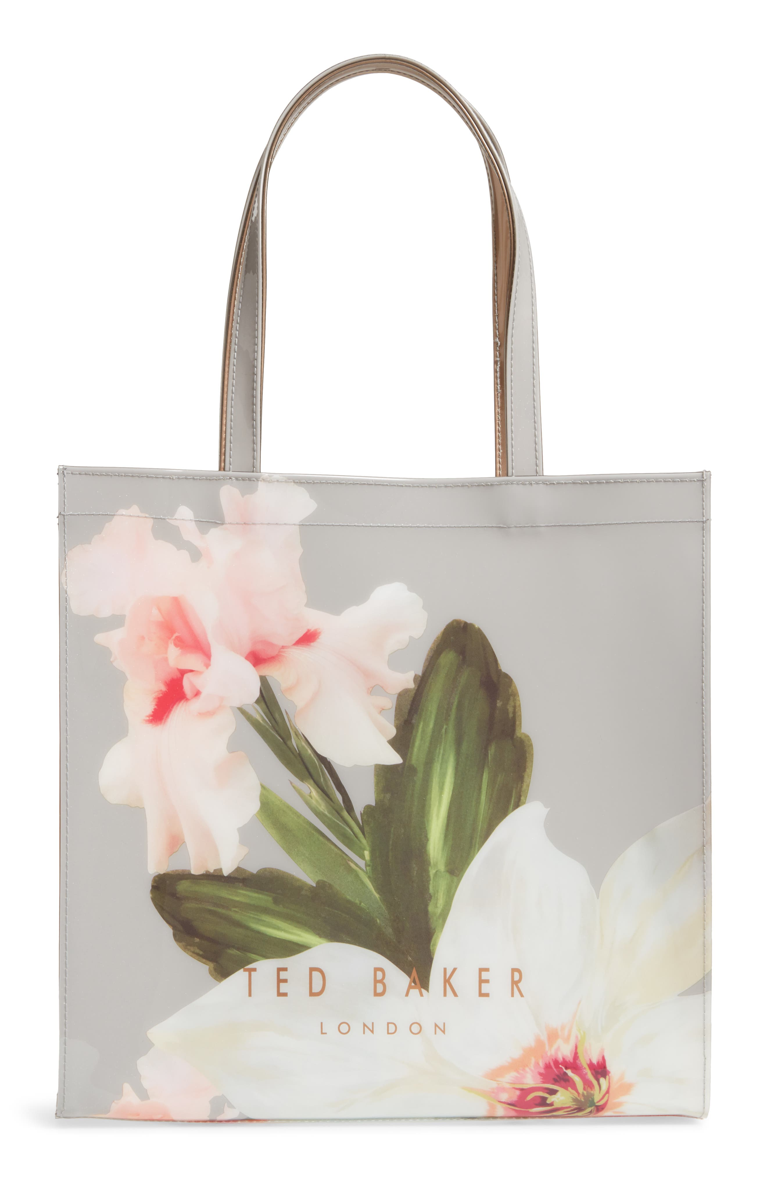 Chatsworth Bloom Large Icon Tote,                             Alternate thumbnail 3, color,                             Mid Grey