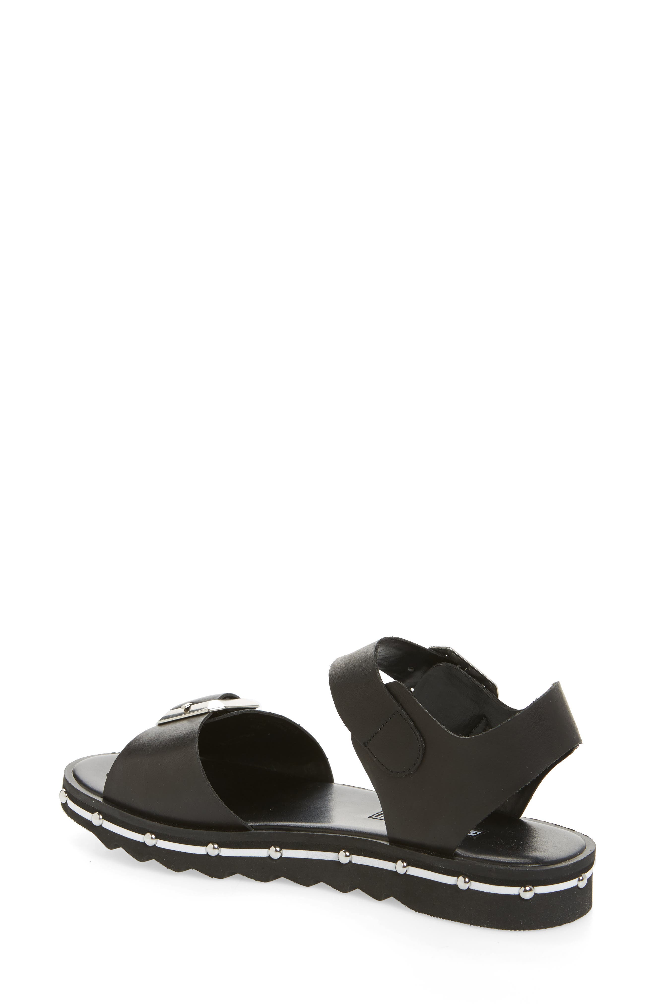 Spy Sandal,                             Alternate thumbnail 2, color,                             Black Leather