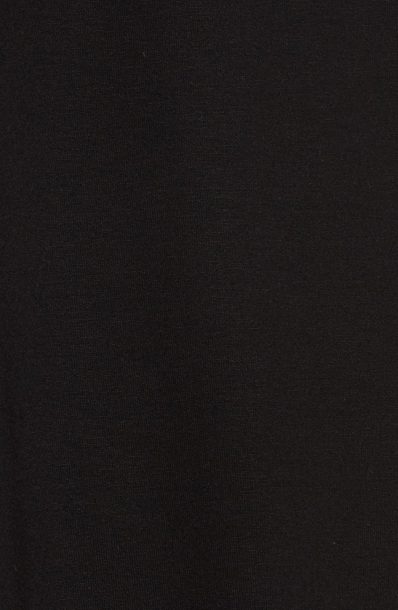 Jersey Top,                             Alternate thumbnail 5, color,                             Black