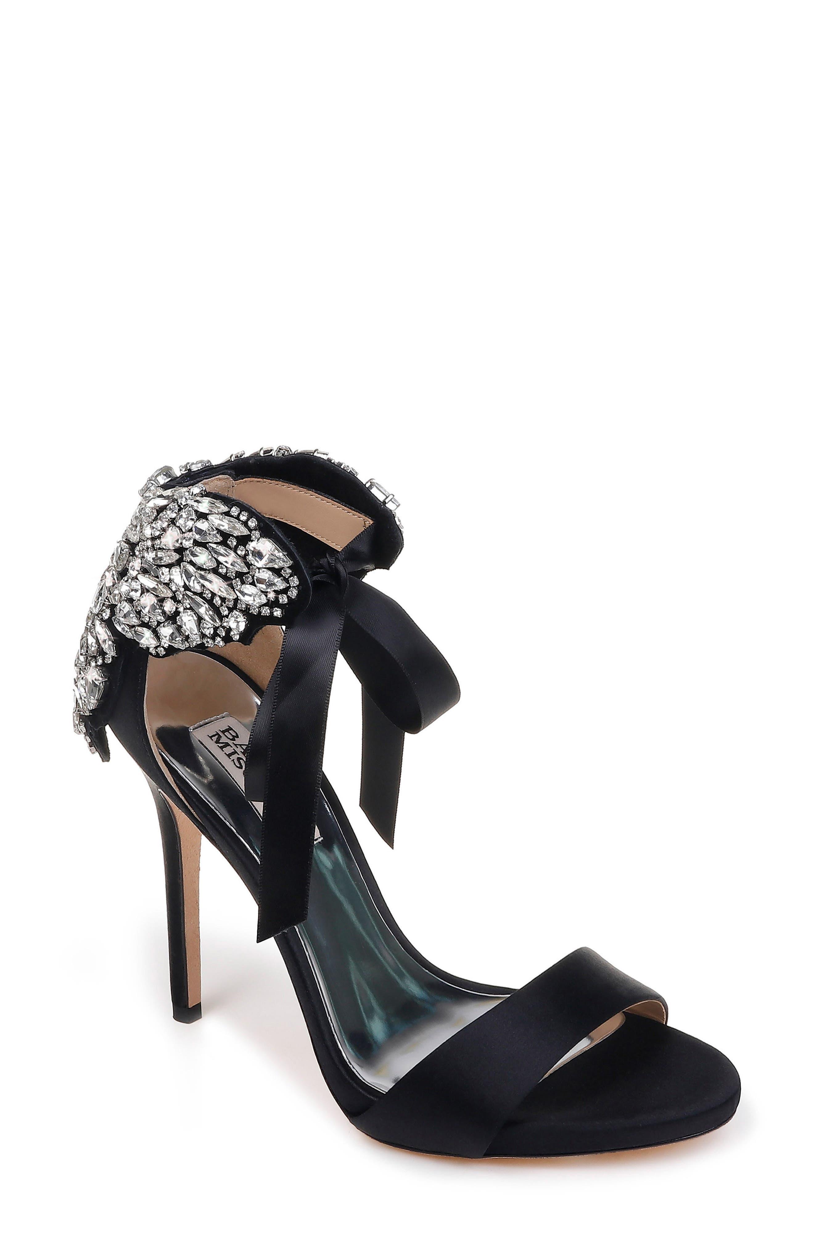 Alternate Image 1 Selected - Badgley Mischka Hilda Crystal Embellished Sandal (Women)