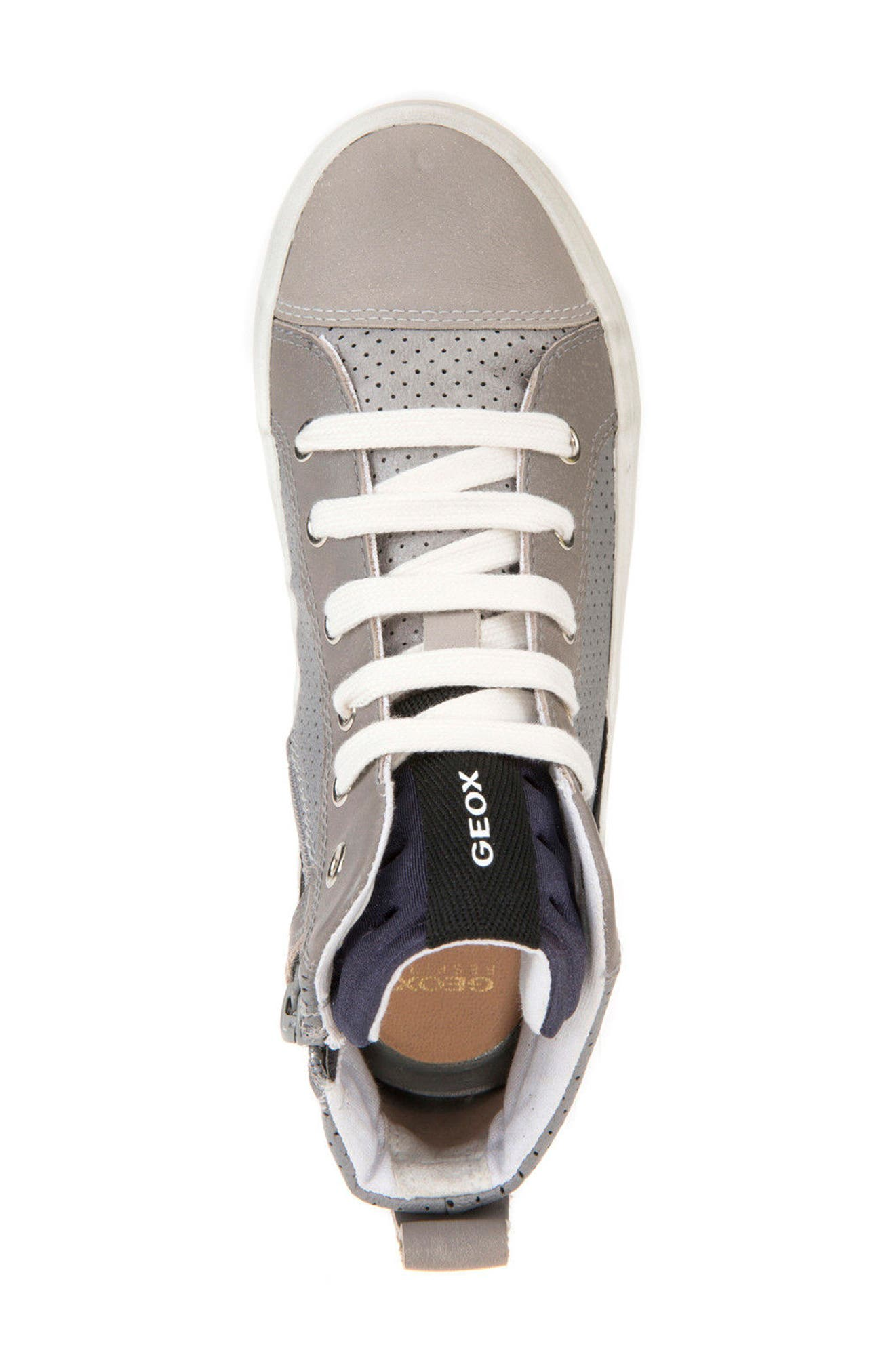 Alonisso Perforated Mid Top Sneaker,                             Alternate thumbnail 5, color,                             Grey/ Light Grey