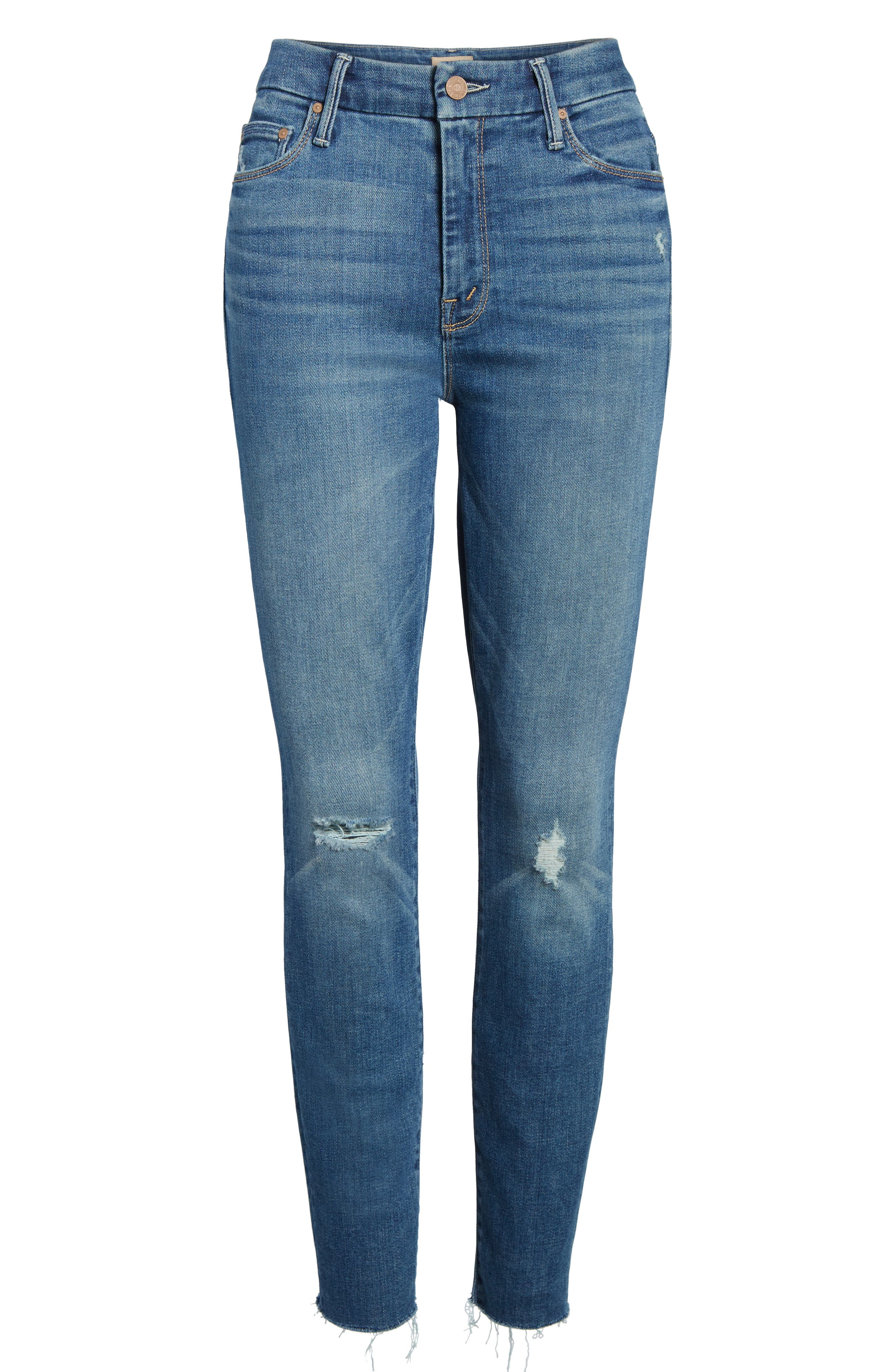 The Looker Frayed Ankle Jeans,                             Alternate thumbnail 7, color,                             Wild