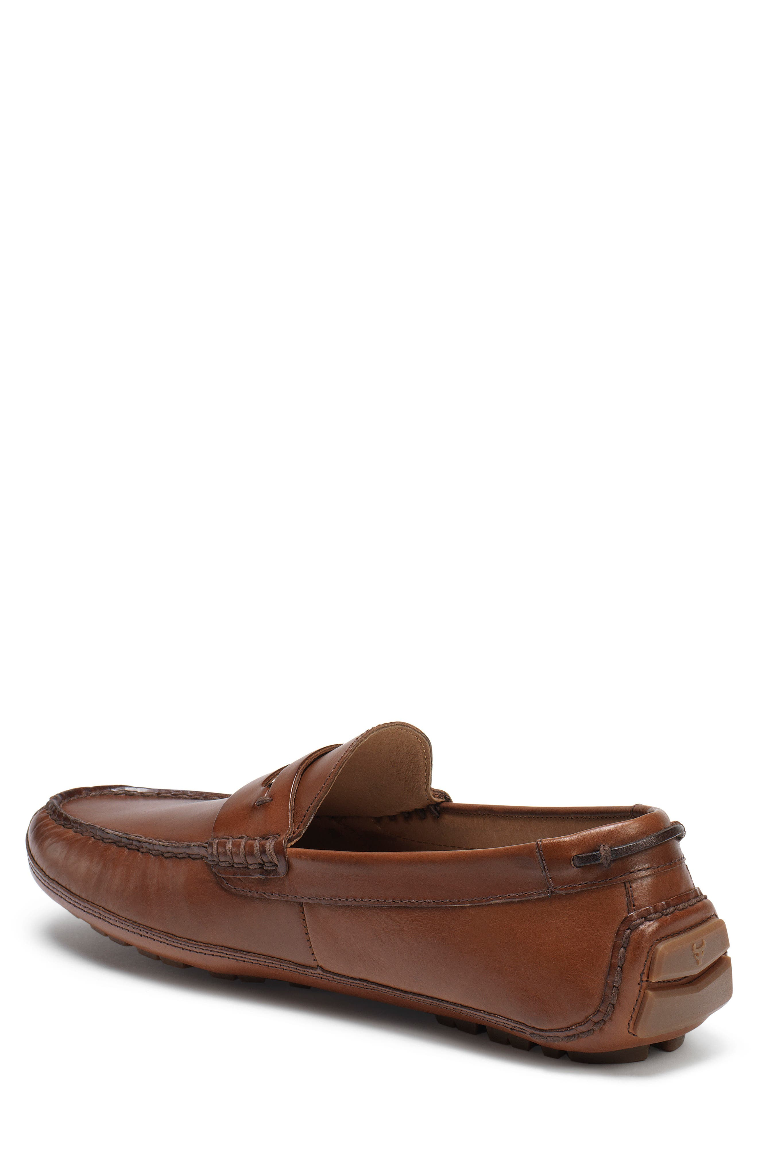 Dawson Water Resistant Driving Loafer,                             Alternate thumbnail 2, color,                             Light Brown Leather