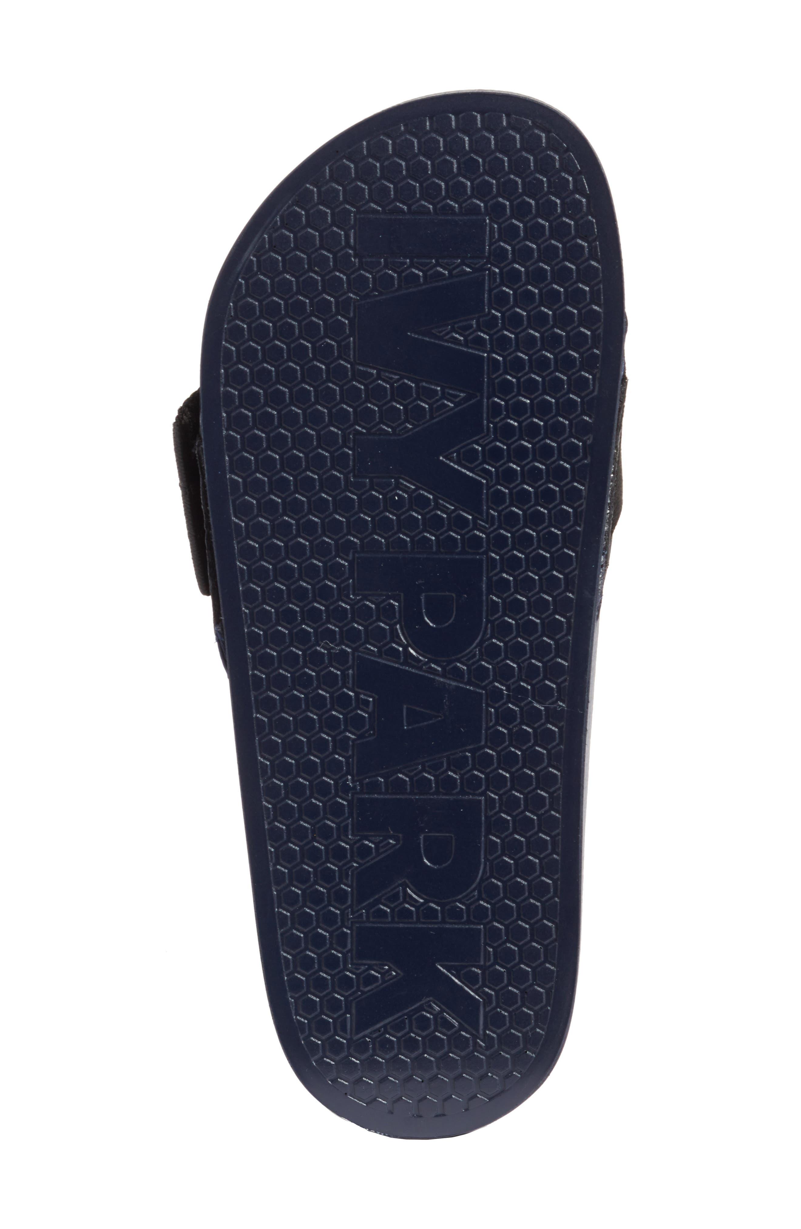 Hi-Shine Strap Slide Sandal,                             Alternate thumbnail 6, color,                             Ink