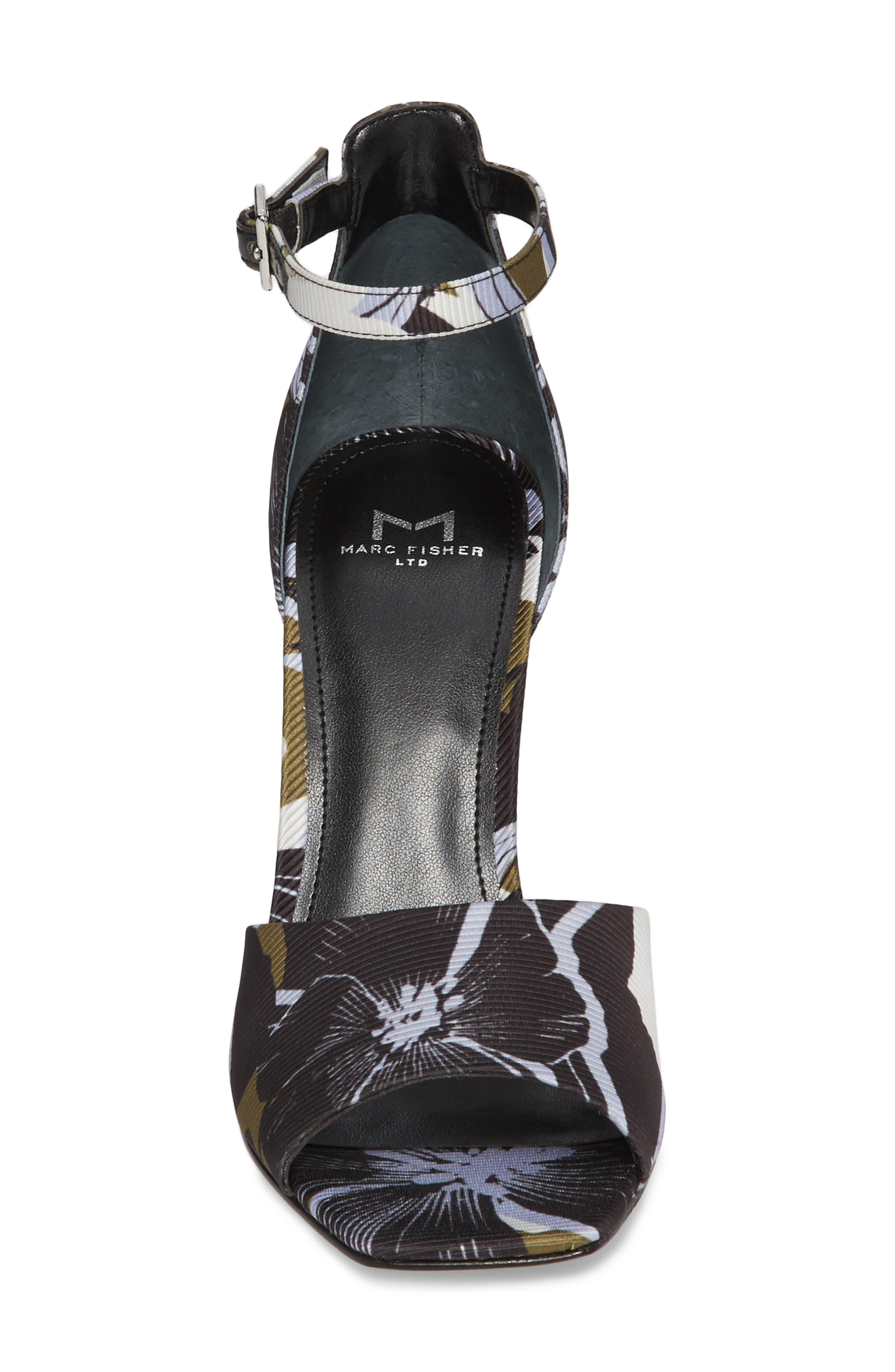 Harlin Ankle Strap Sandal,                             Alternate thumbnail 4, color,                             Jungle Print Fabric