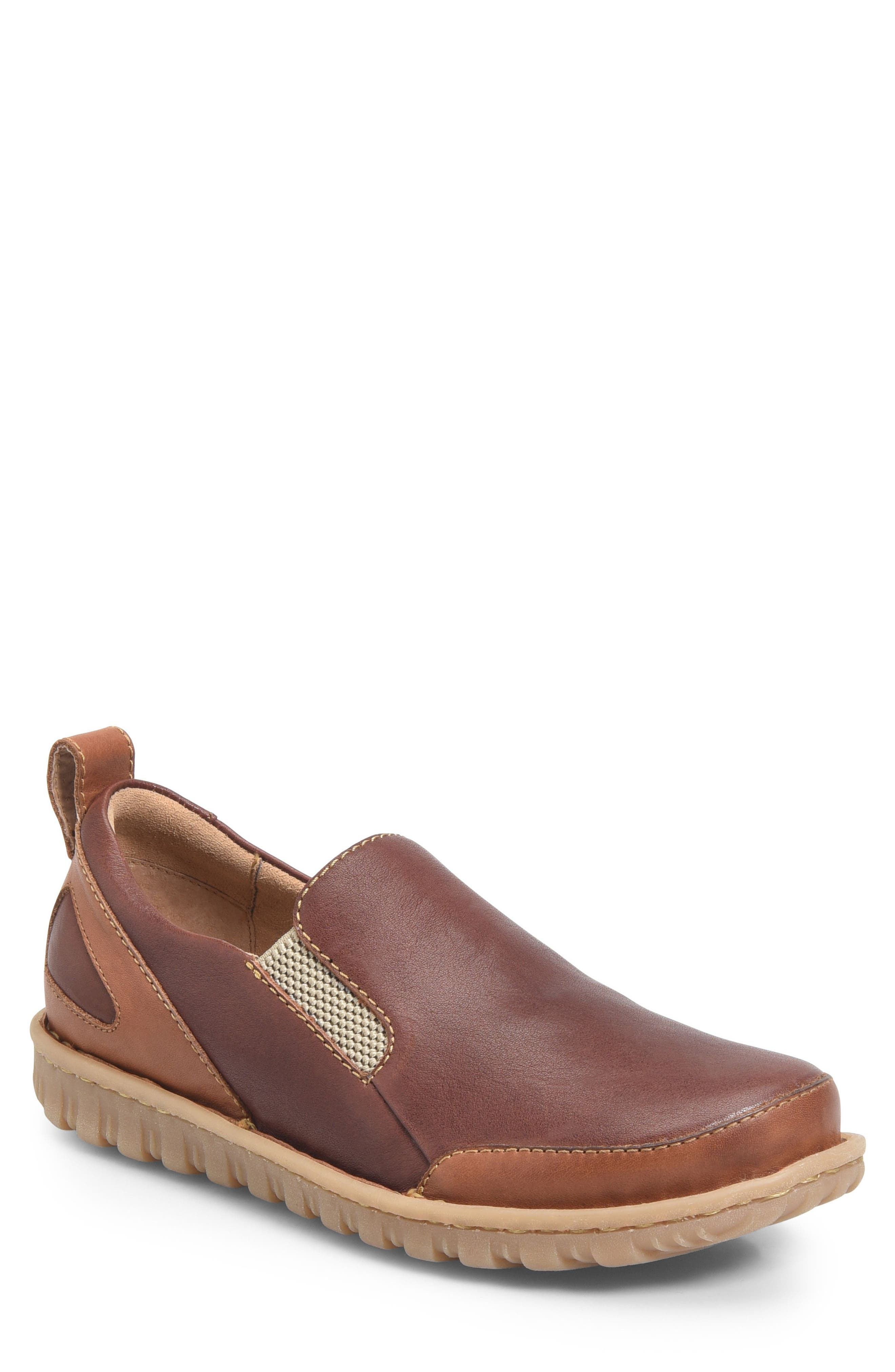 Pepper Slip-On,                             Main thumbnail 1, color,                             Brown/ Rust Leather