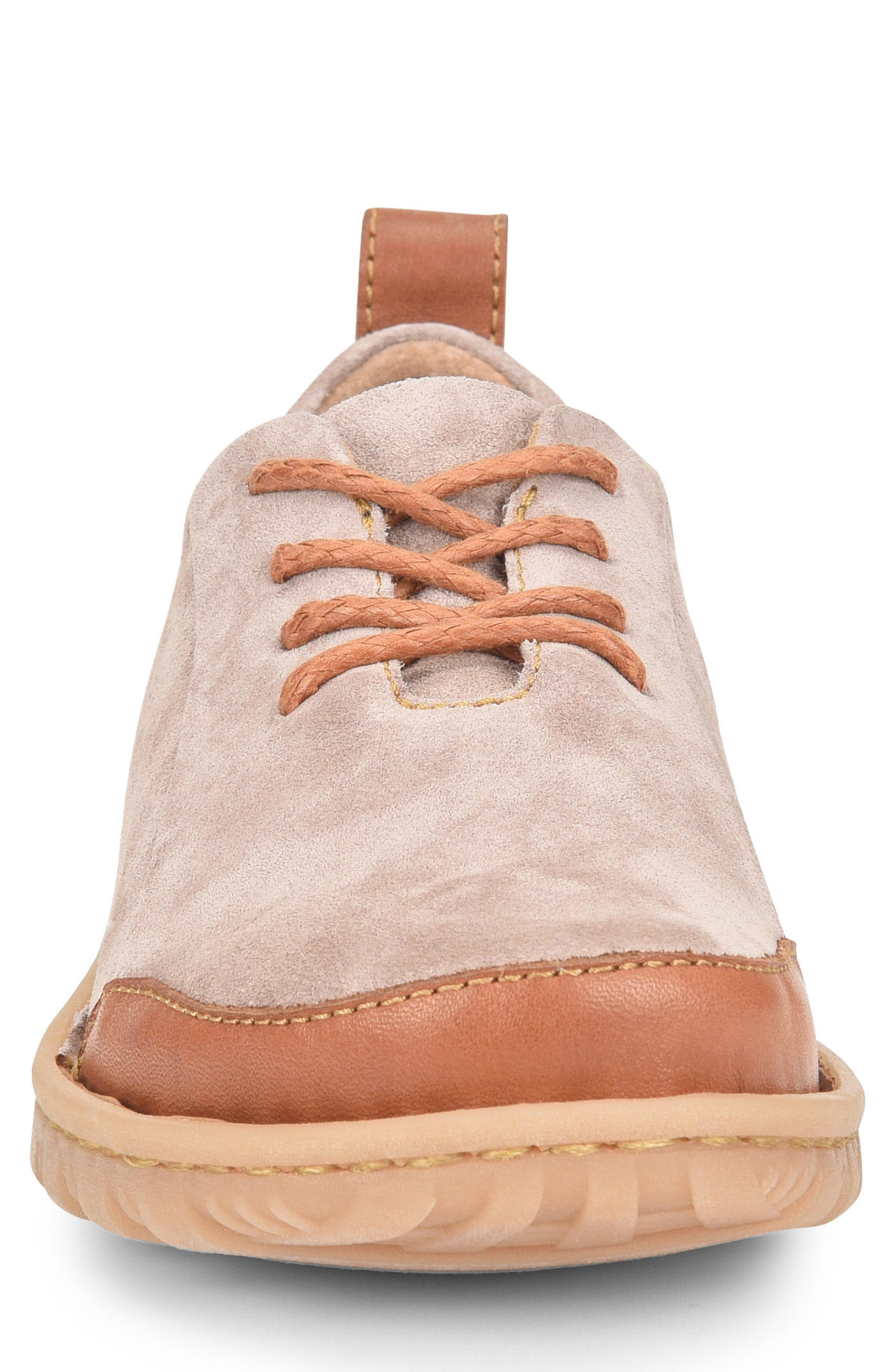 Piper Plain Toe Derby,                             Alternate thumbnail 4, color,                             Grey/ Bronze Leather