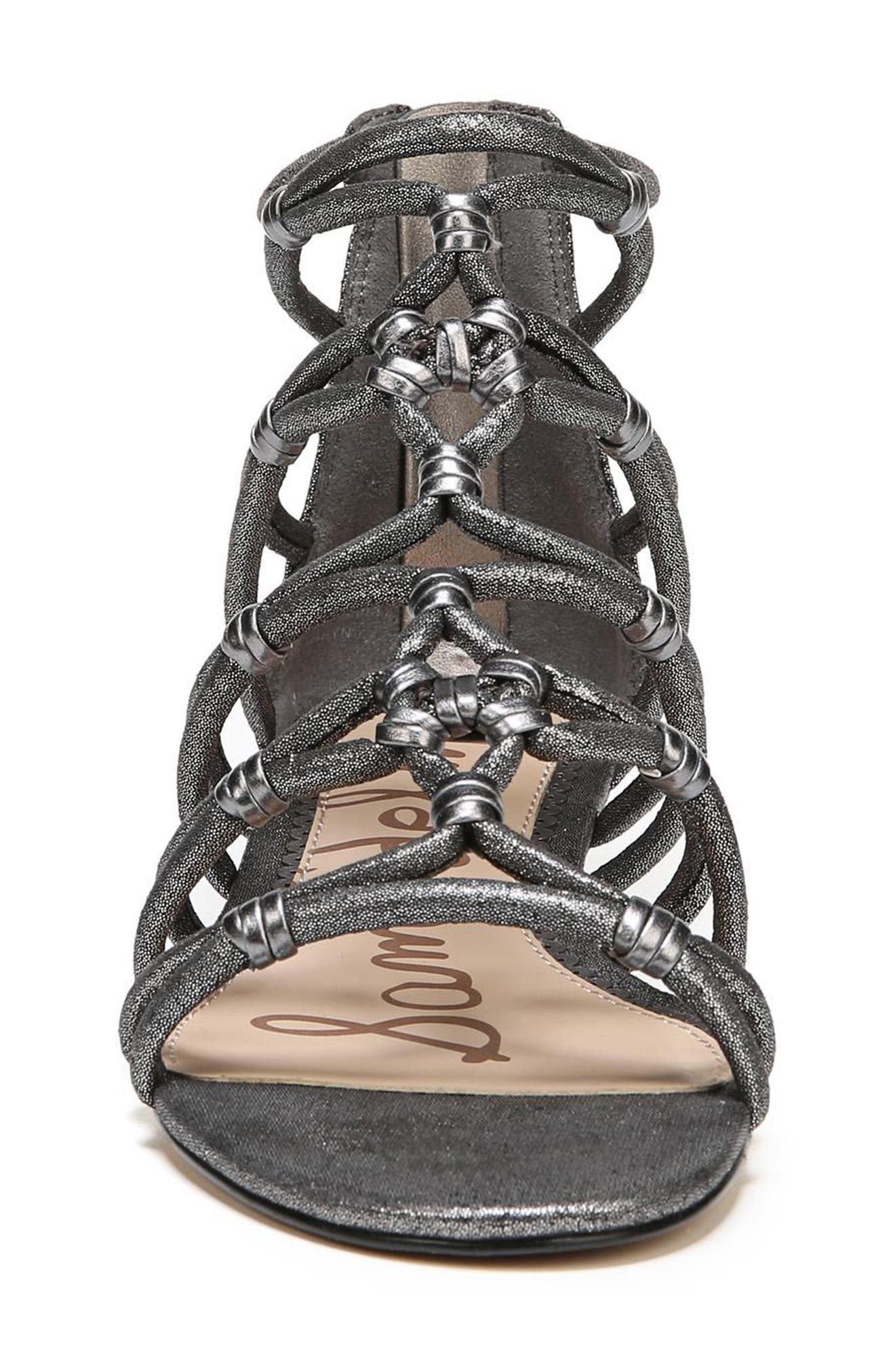 Daryn Sandal,                             Alternate thumbnail 4, color,                             Pewter Suede