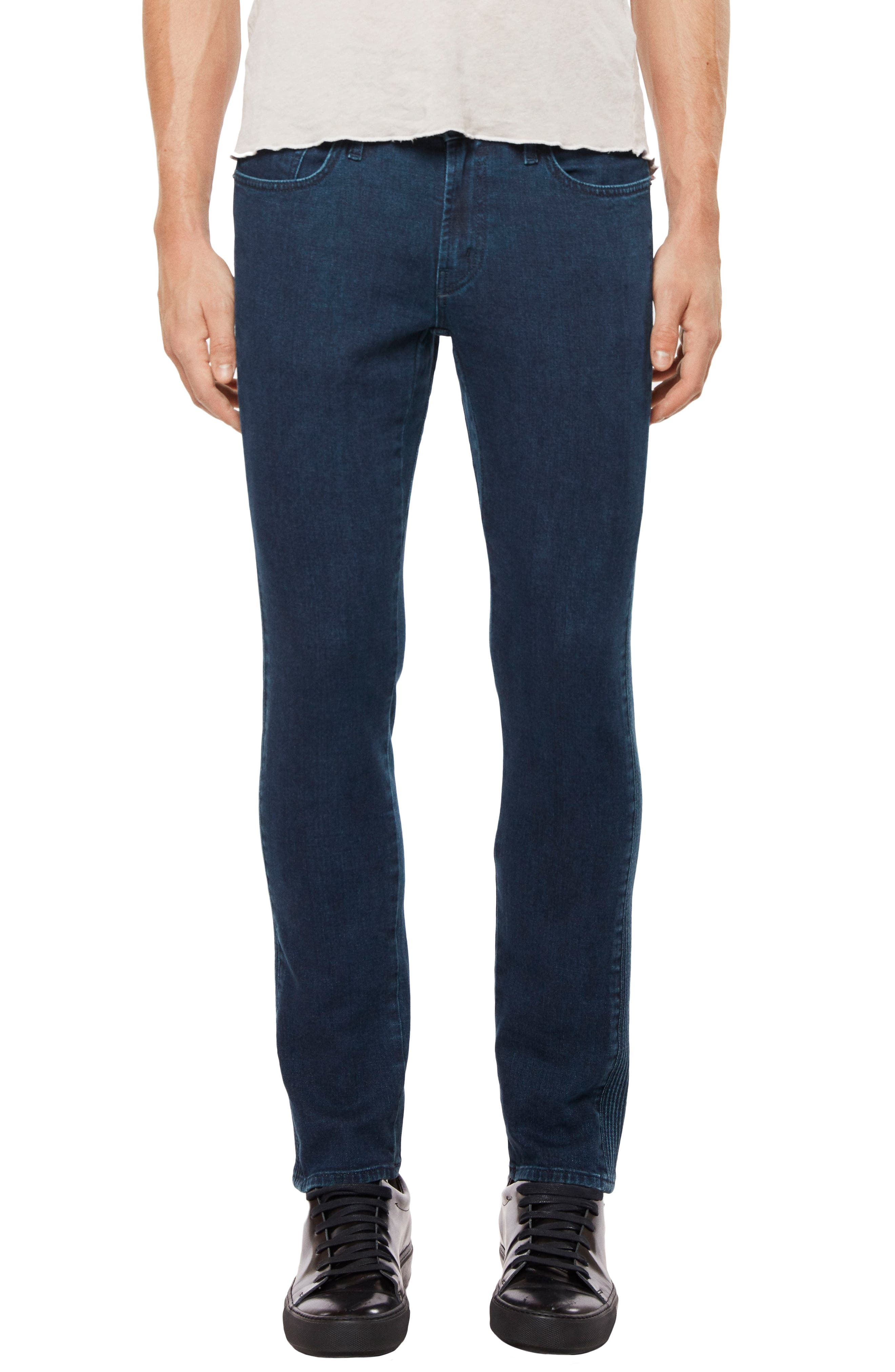 Moto Skinny Fit Jeans,                             Main thumbnail 1, color,                             Afantic