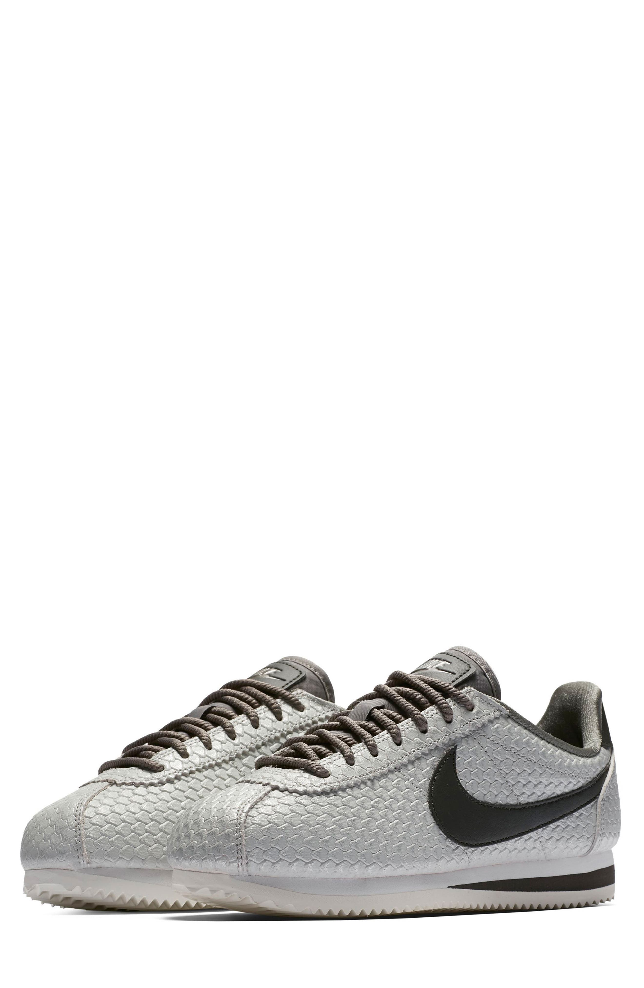Classic Cortez SE Sneaker,                         Main,                         color, Pewter/ Pewter/ White