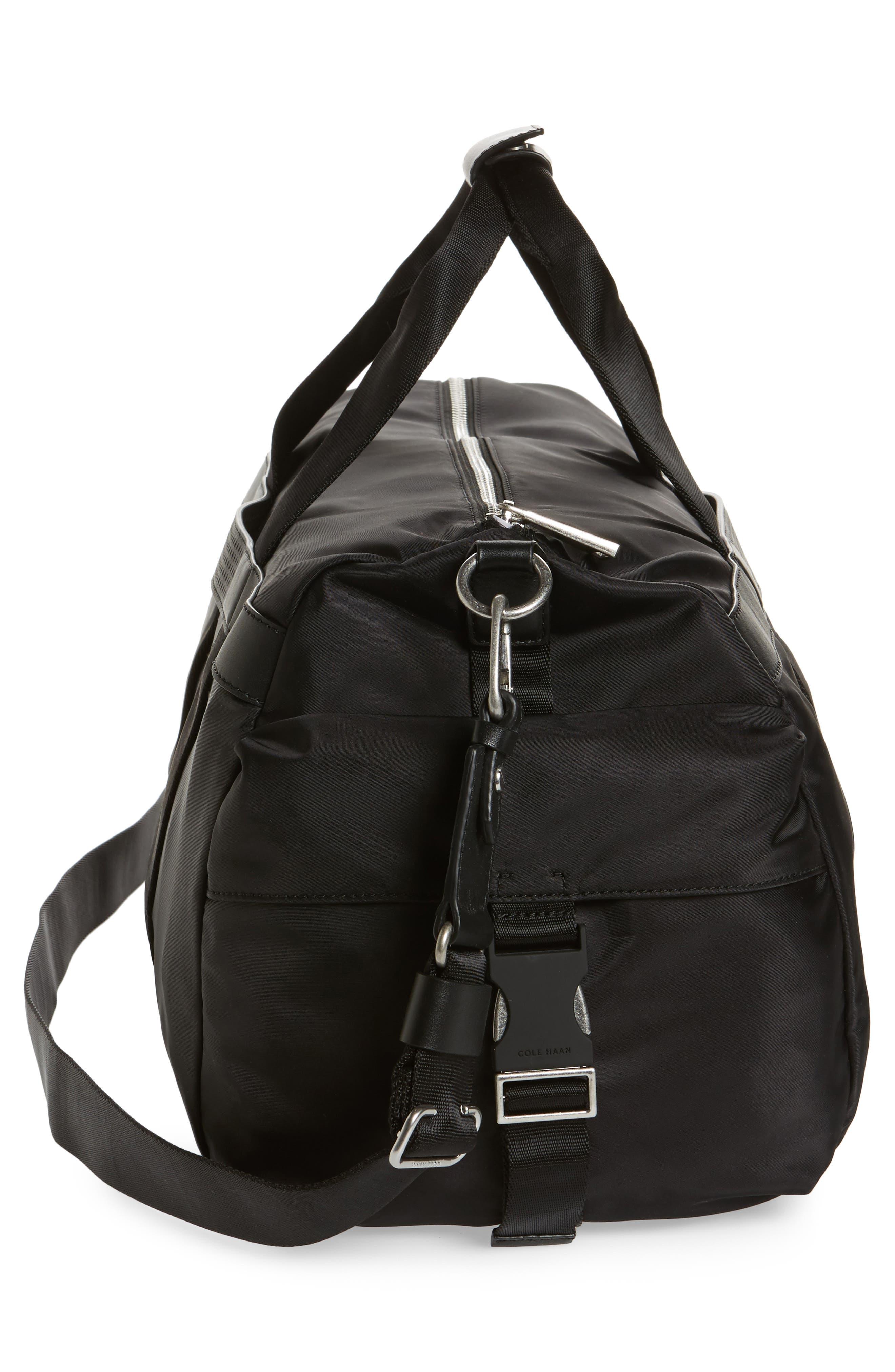 Washington Grand City Duffel Bag,                             Alternate thumbnail 5, color,                             Black