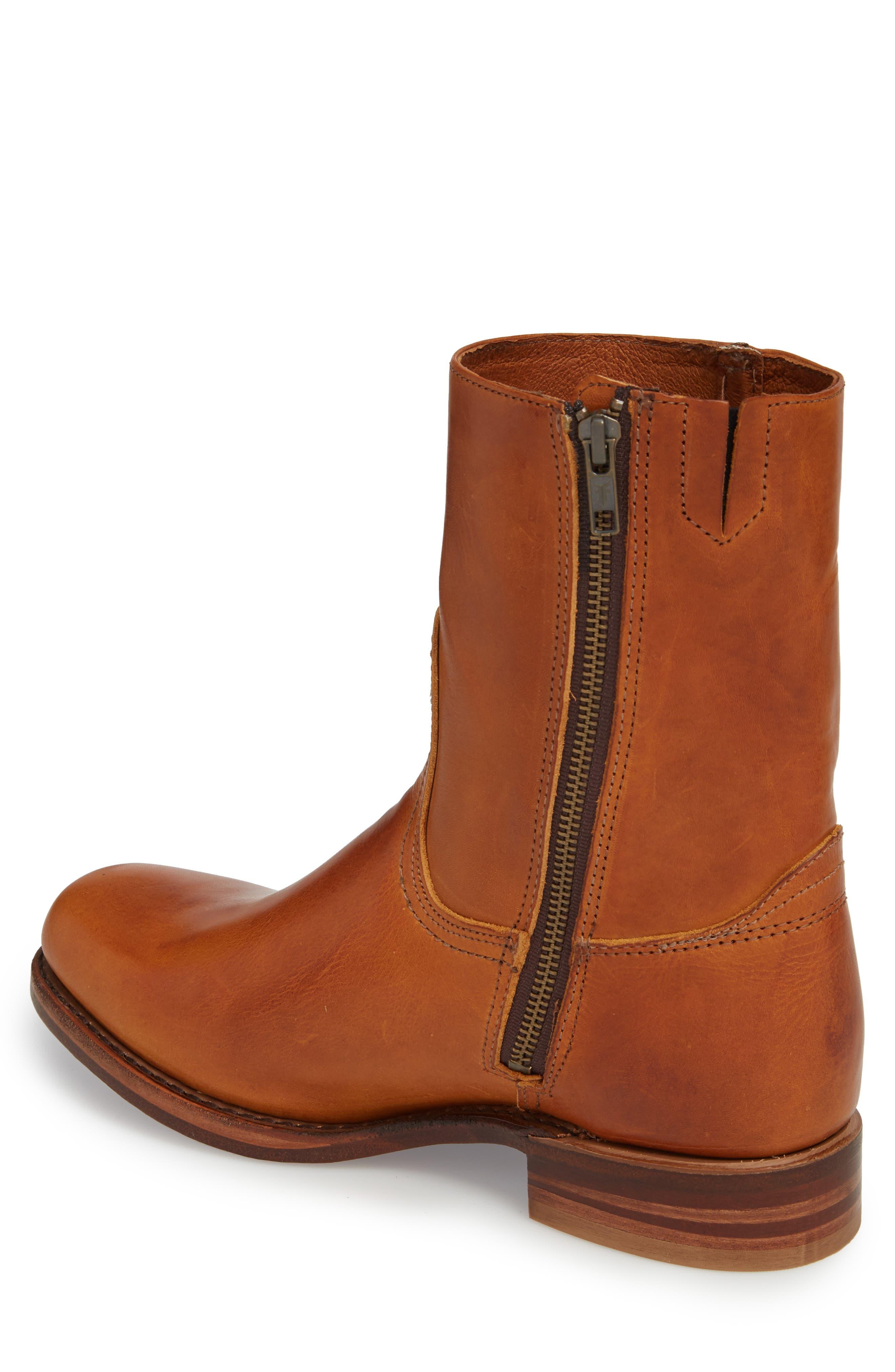 Campus Side Zip Boot,                             Alternate thumbnail 2, color,                             Cognac Leather