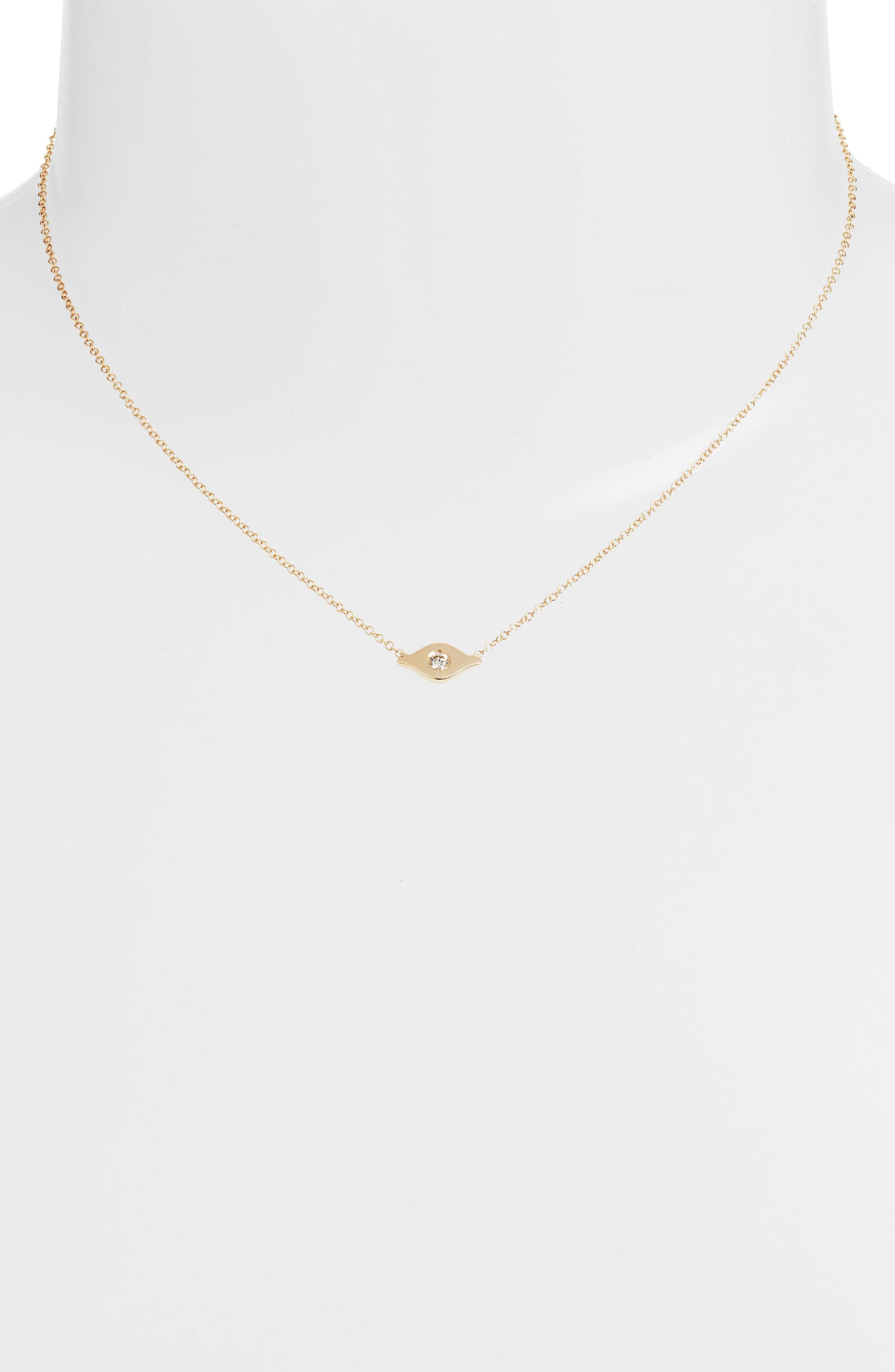 EF COLLECTION Evil Eye Diamond Choker Necklace