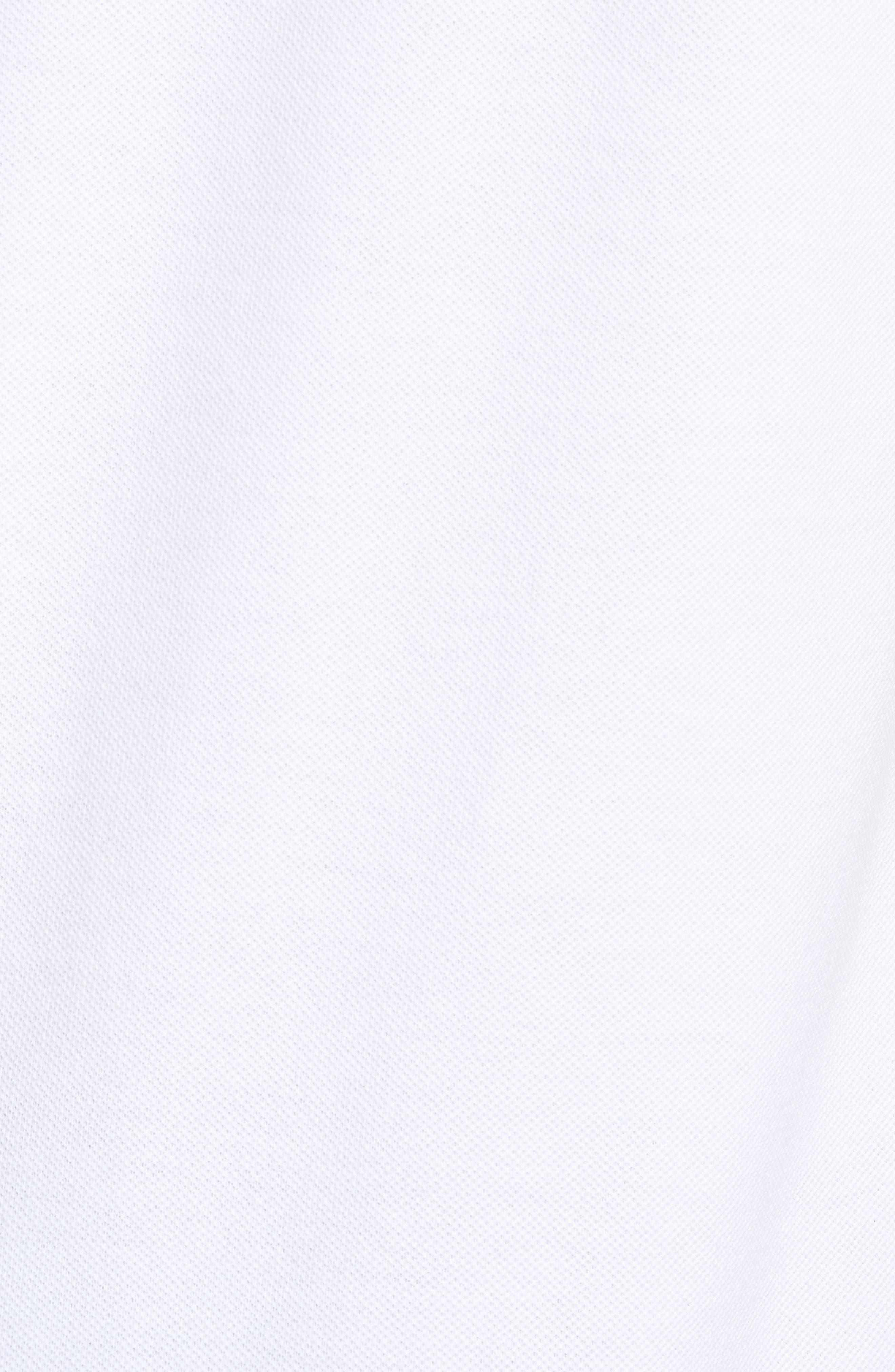 Slim Fit Stripe Sleeve Cotton Polo,                             Alternate thumbnail 5, color,                             White