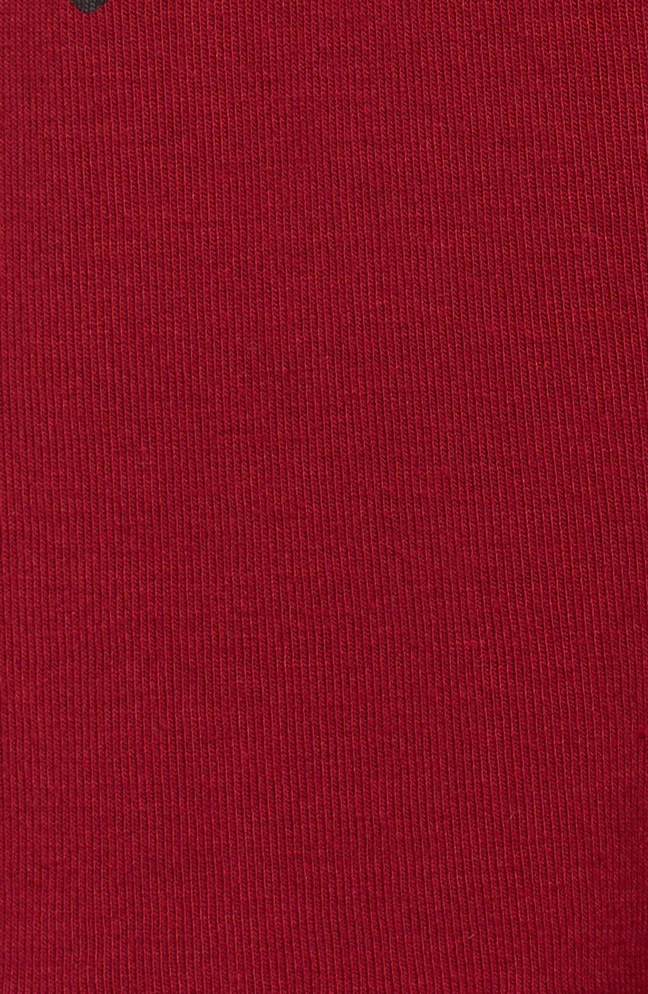 Graphic Pajama Top,                             Alternate thumbnail 7, color,                             Deep Red