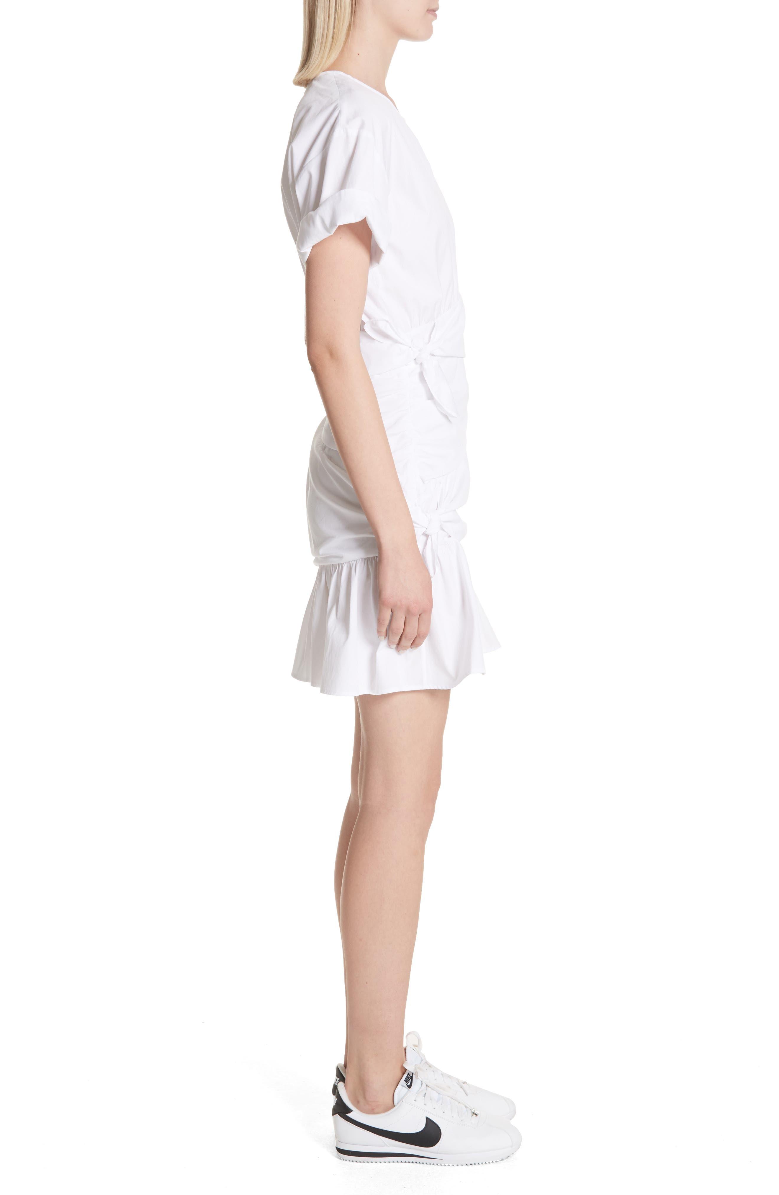 Cassian Cotton Dress,                             Alternate thumbnail 3, color,                             White