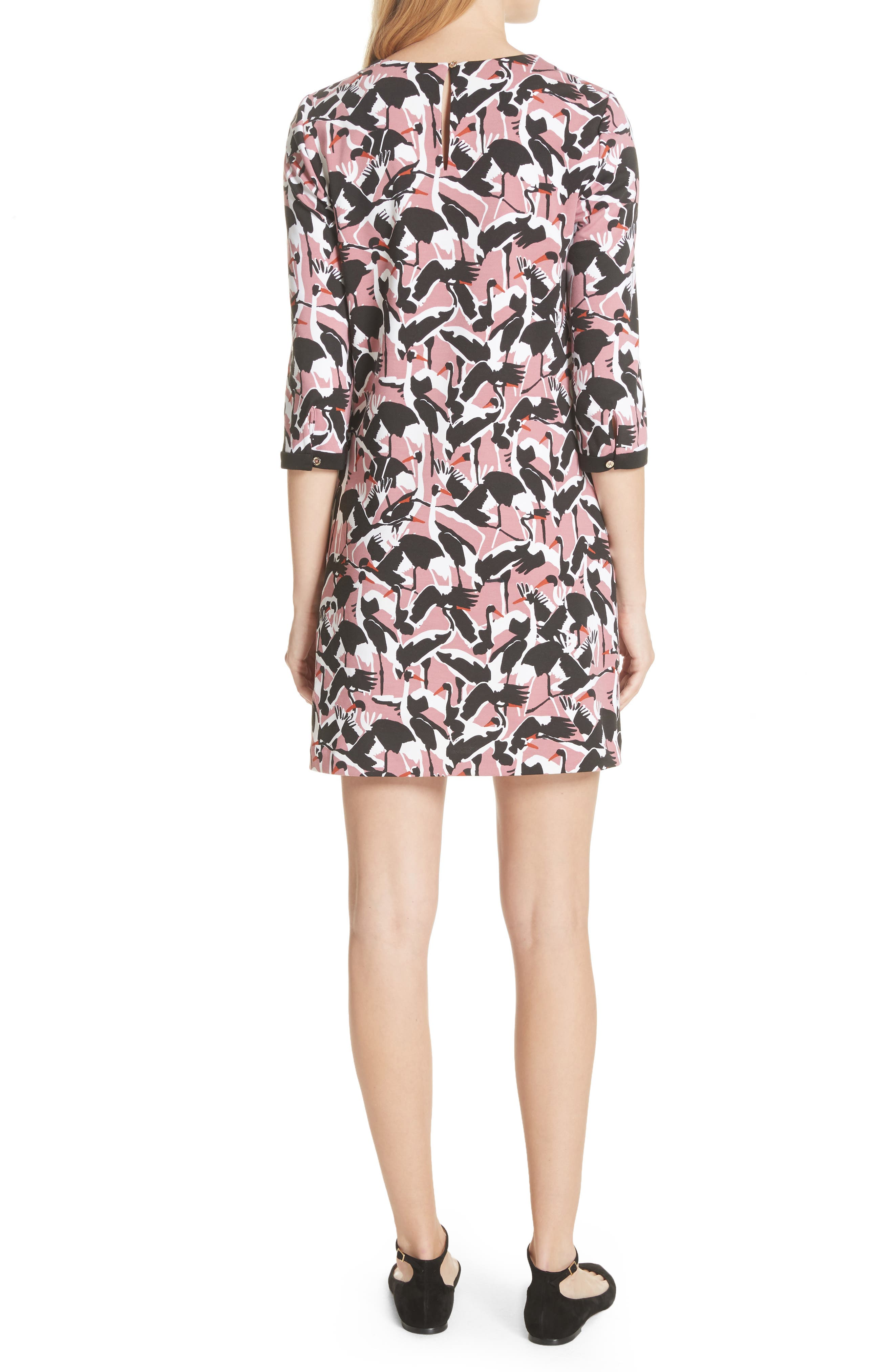 Colour by Numbers Crane Shift Dress,                             Alternate thumbnail 2, color,                             Dusky Pink