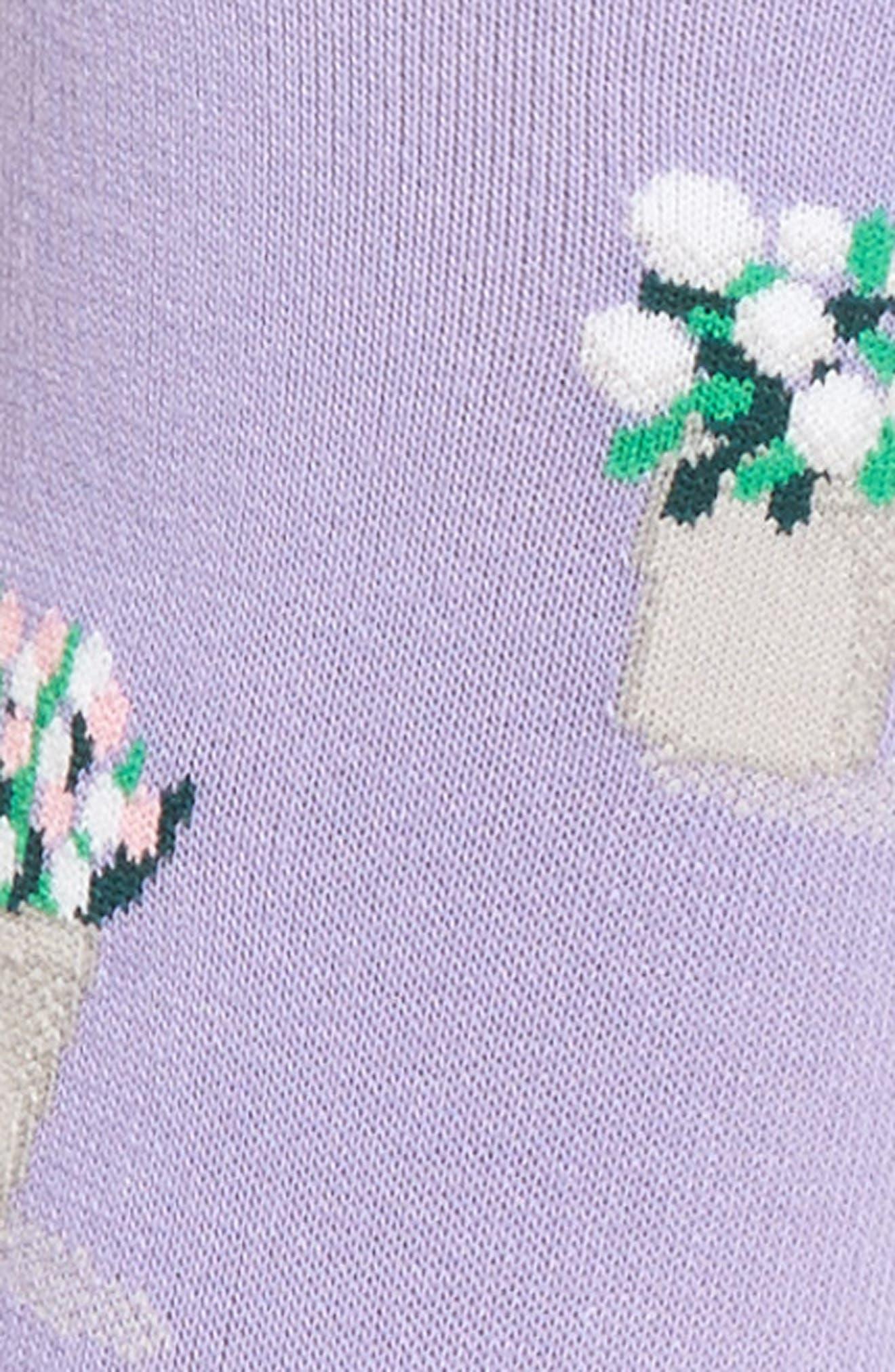 Bouquet Crew Socks,                             Alternate thumbnail 2, color,                             Lavender