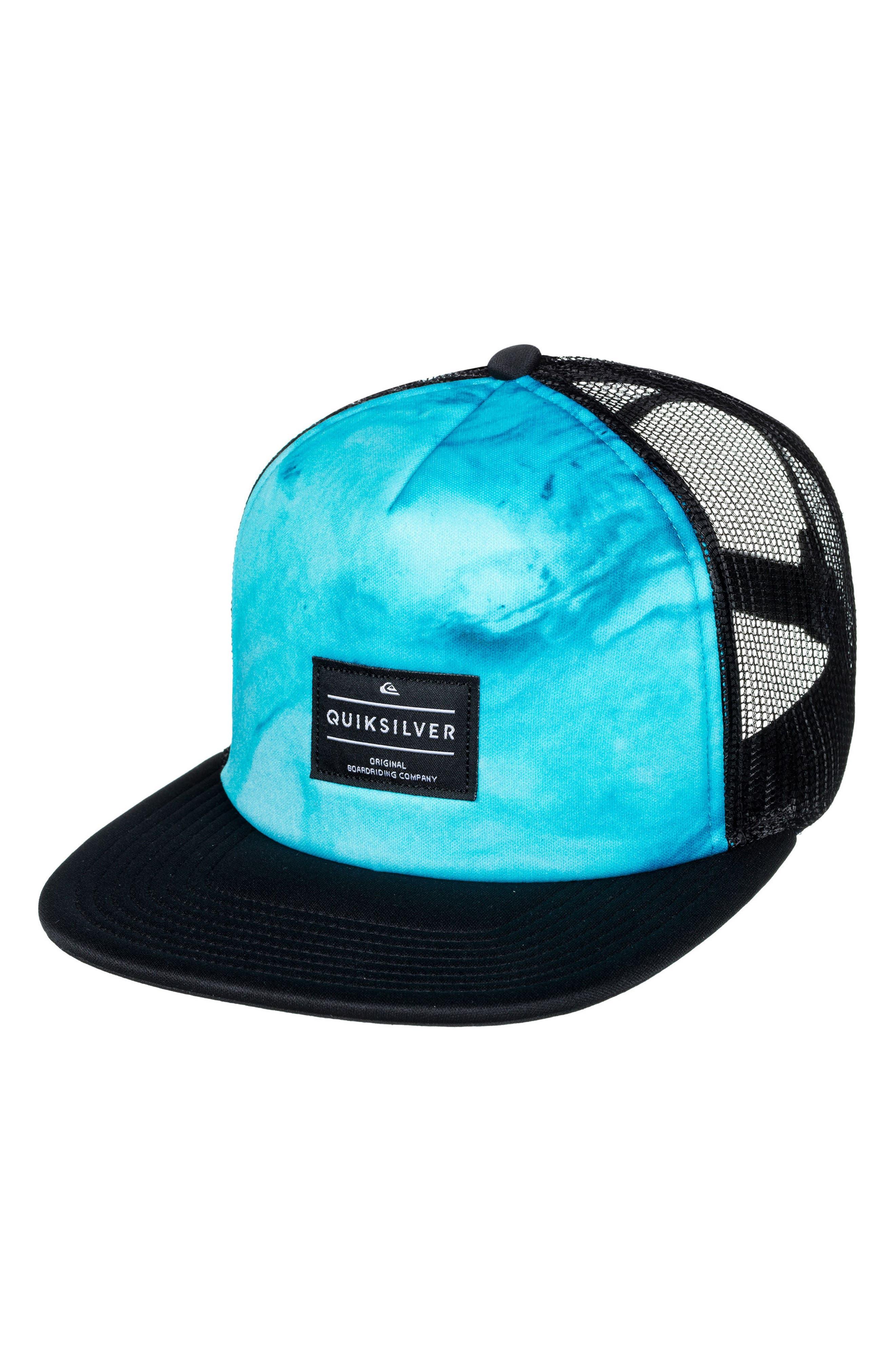 Brissells Snapback Trucker Hat,                             Main thumbnail 1, color,                             Black