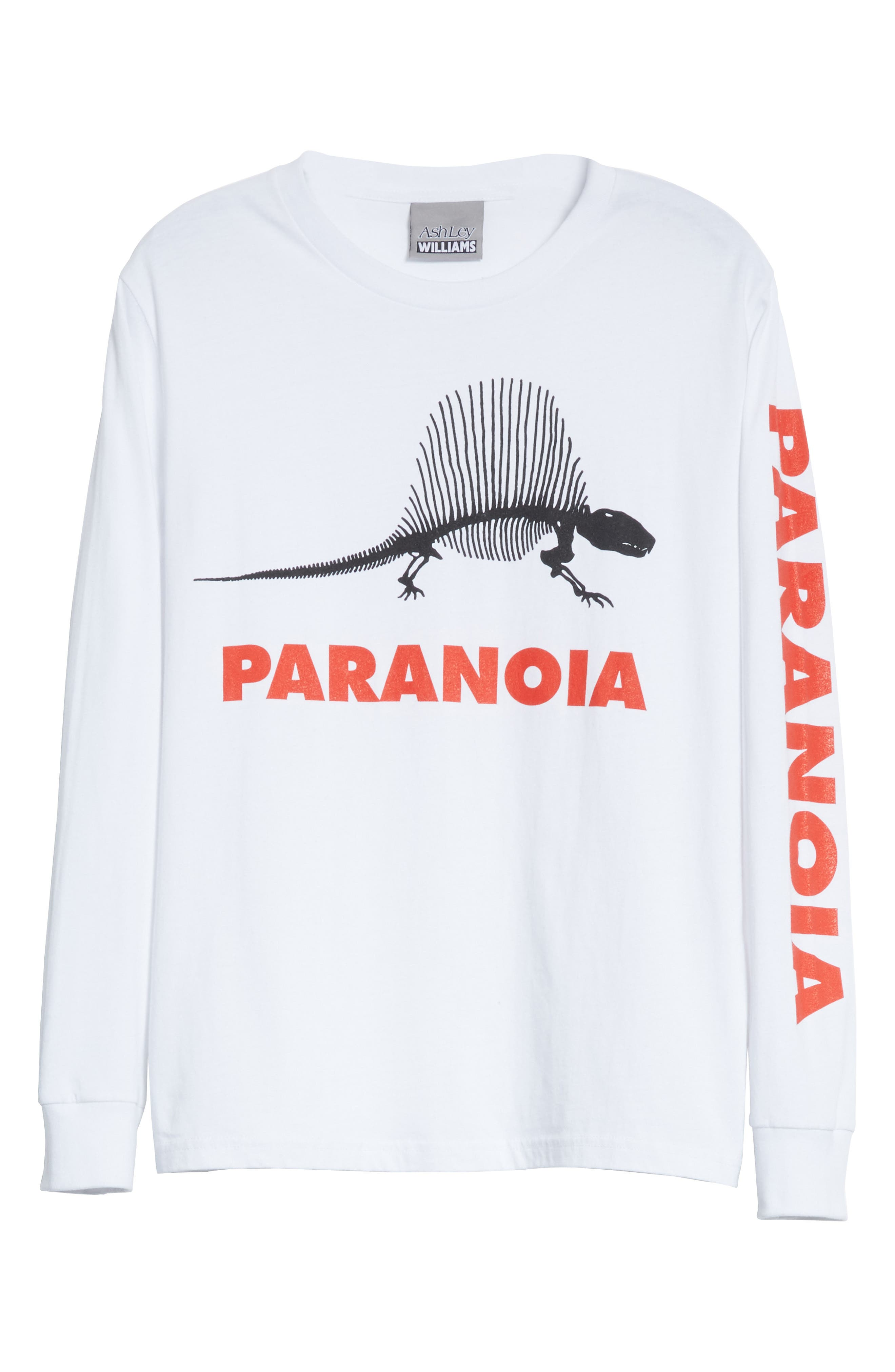 Paranoia Long Sleeve Tee,                             Alternate thumbnail 7, color,                             White
