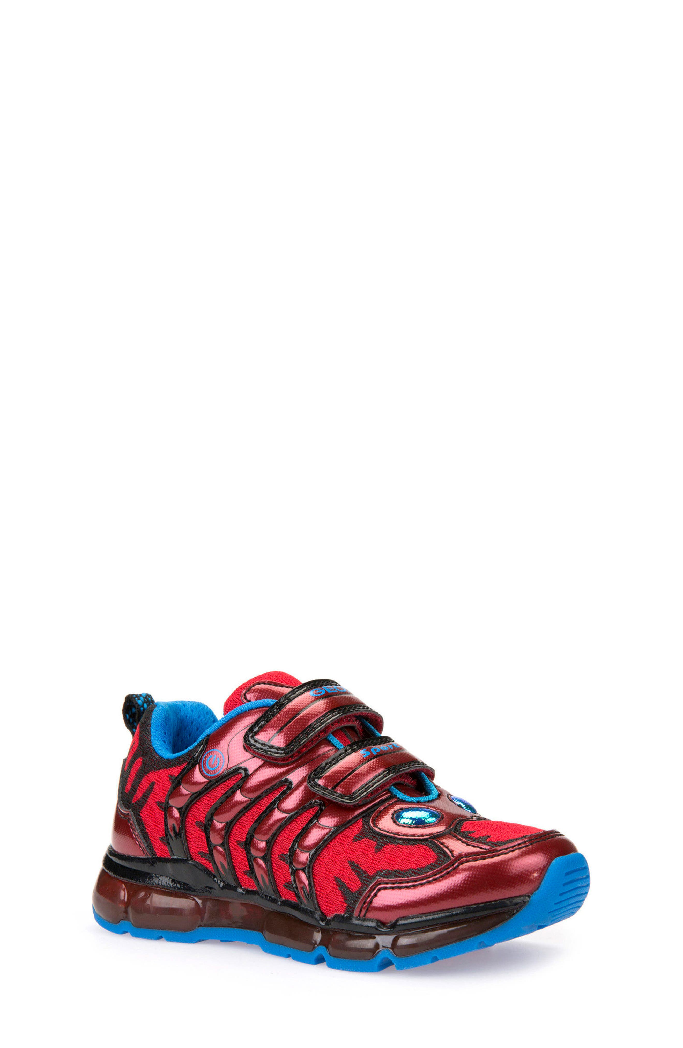 Android Light-Up Sneaker,                             Main thumbnail 1, color,                             Red